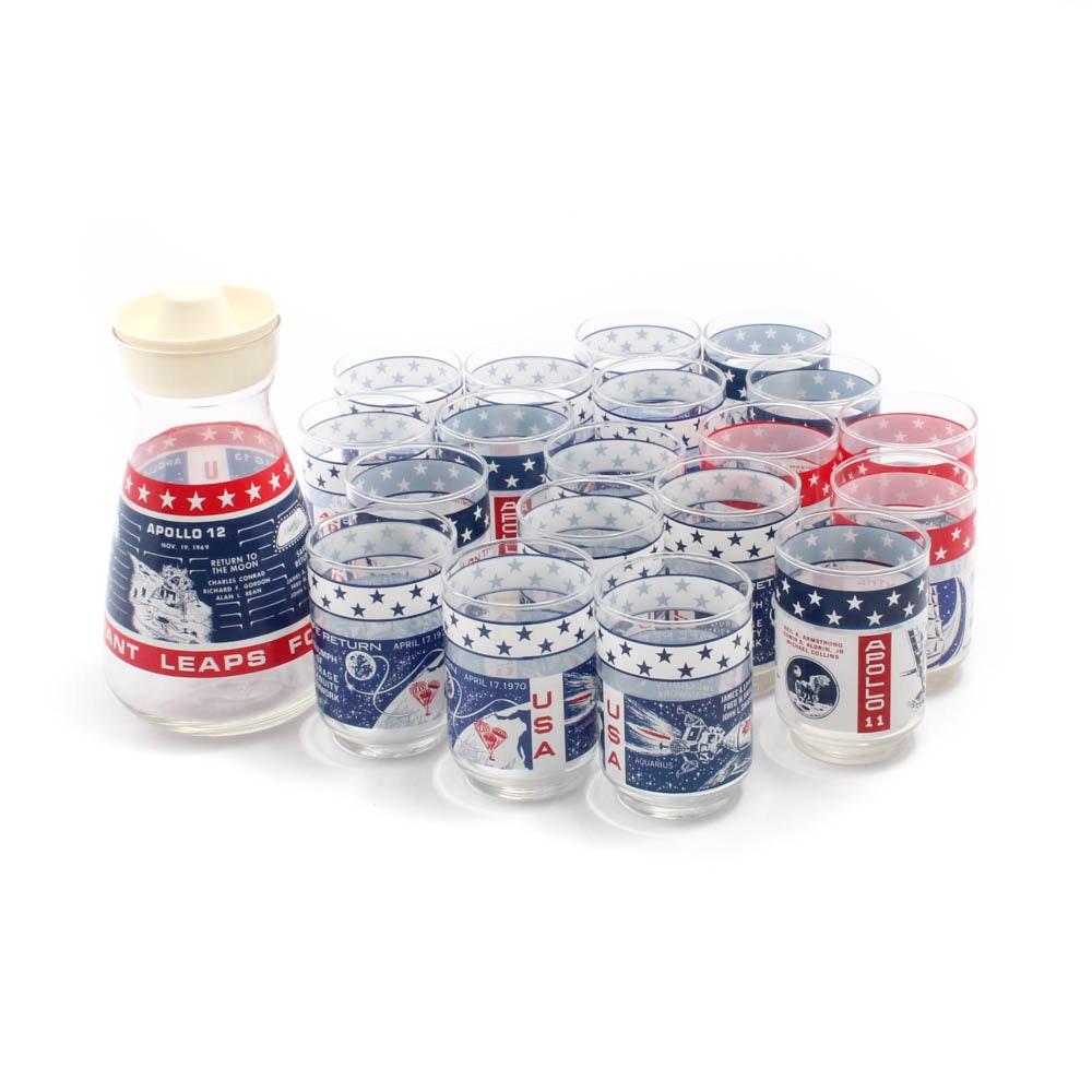 Libbey Apollo Missions Commemorative Juice Glass Set