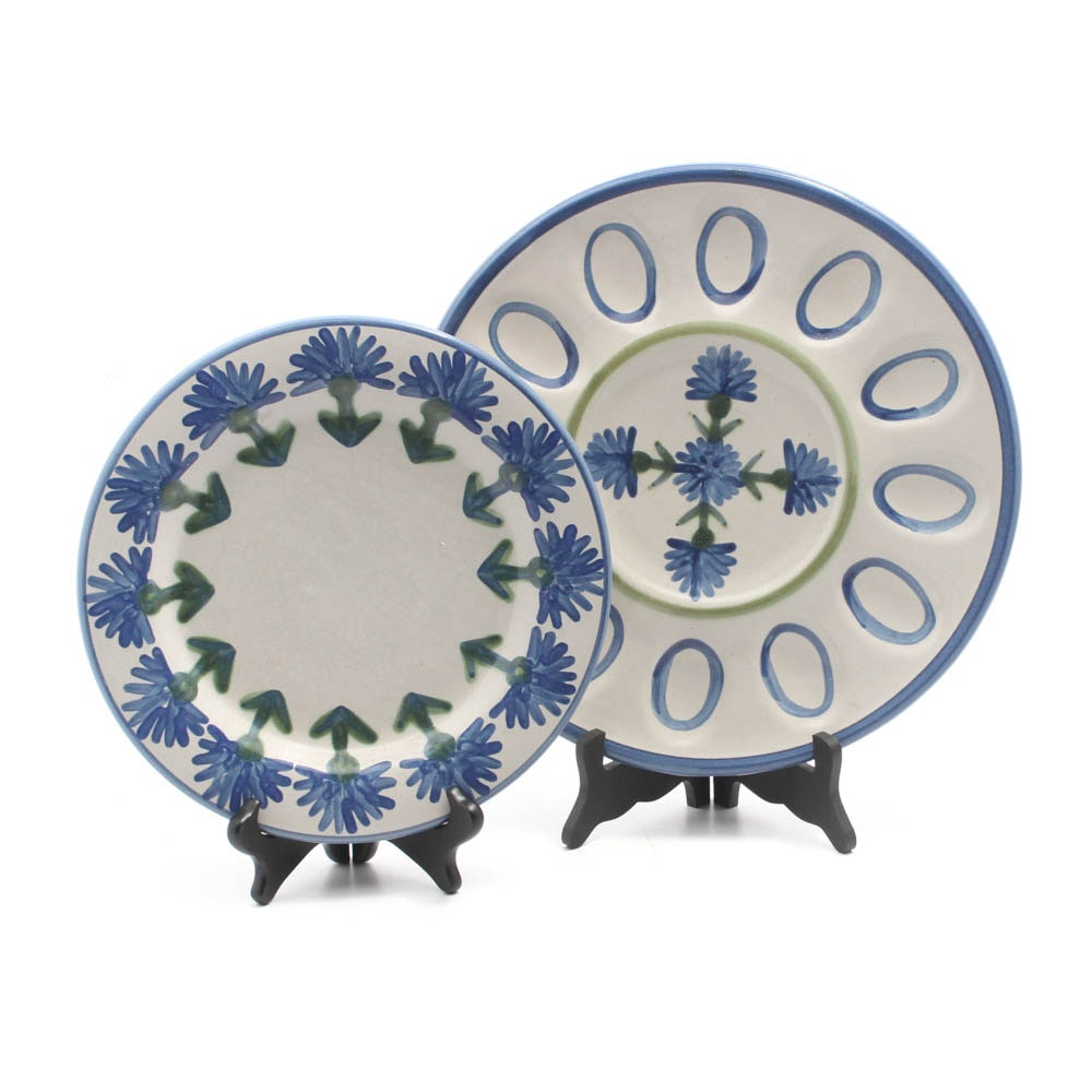 Louisville Stoneware Platter and Egg Plate