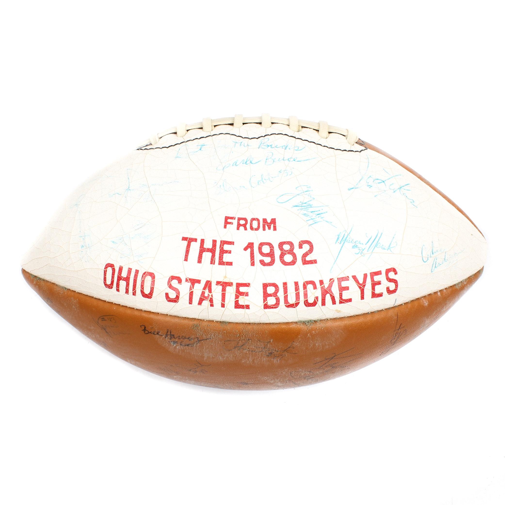1982 Ohio State Autographed Football