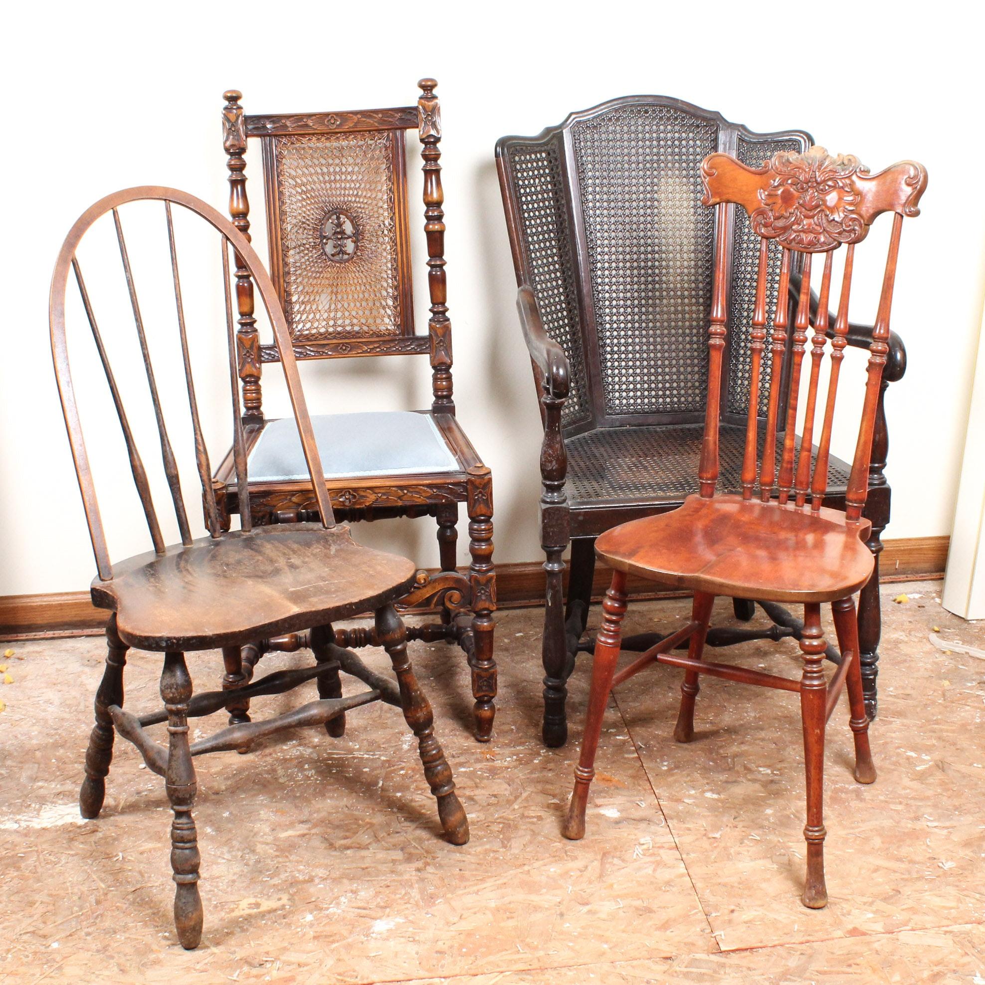 Antique Wooden Chair Assortment