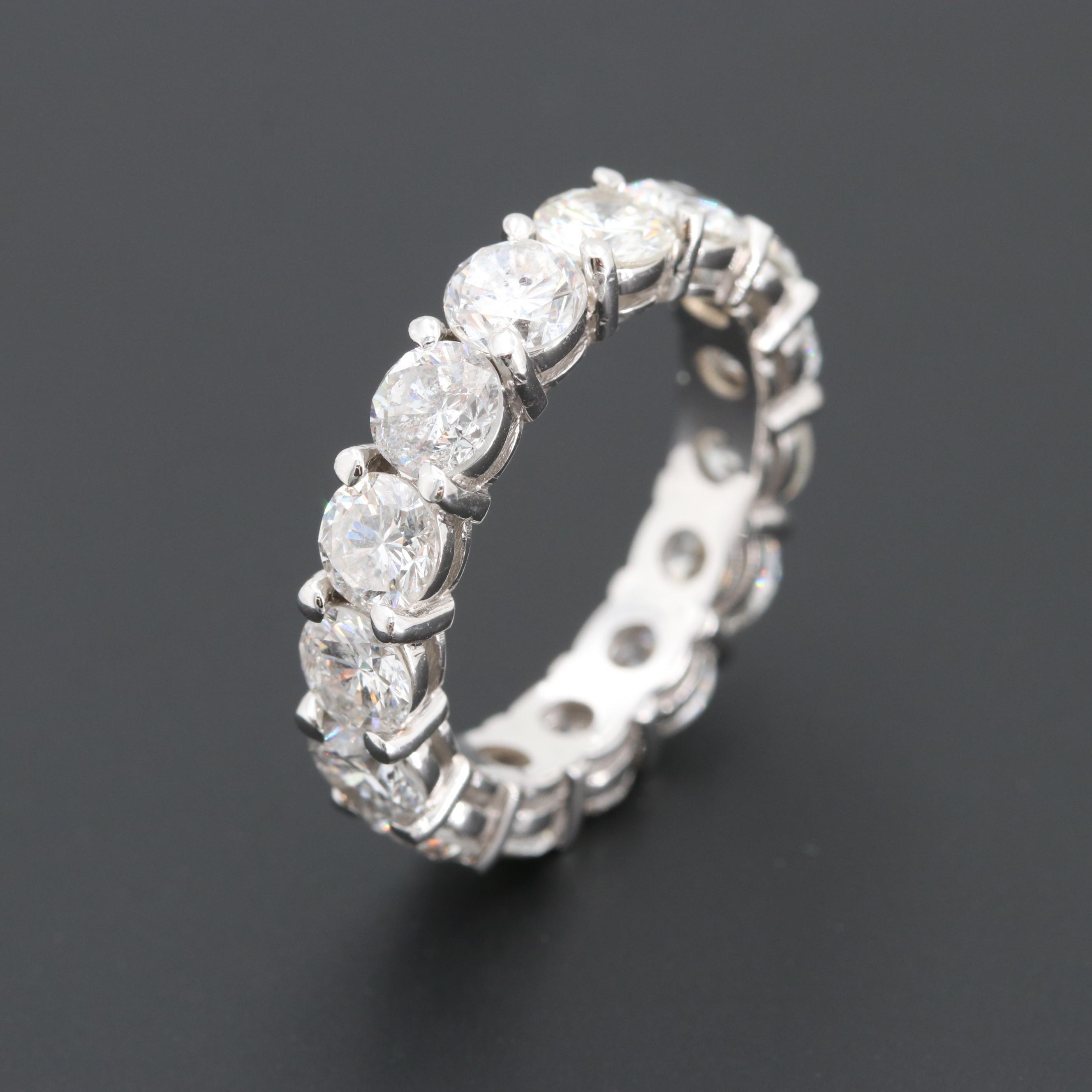18K White Gold 5.00 CTW Diamond Eternity Ring