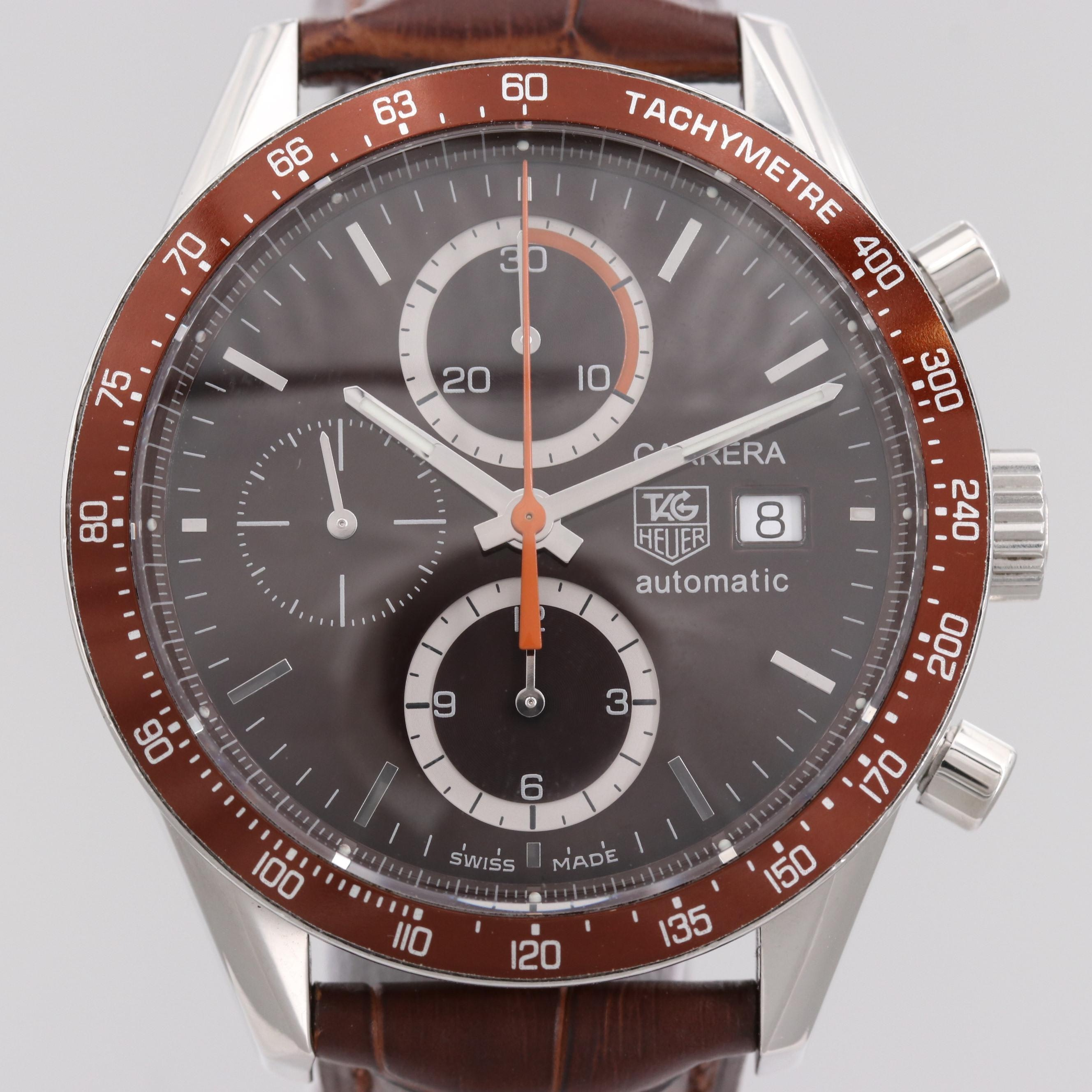 TAG Heuer Carrera Calibre 16 Stainless Steel Chronograph Automatic Wristwatch