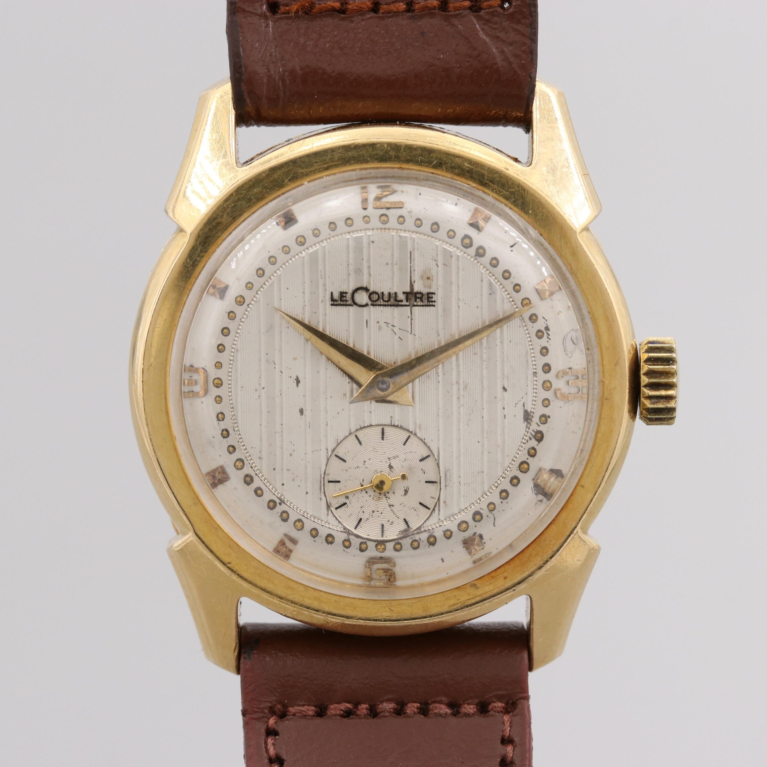 Vintage LeCoultre 18K Yellow Gold Wristwatch