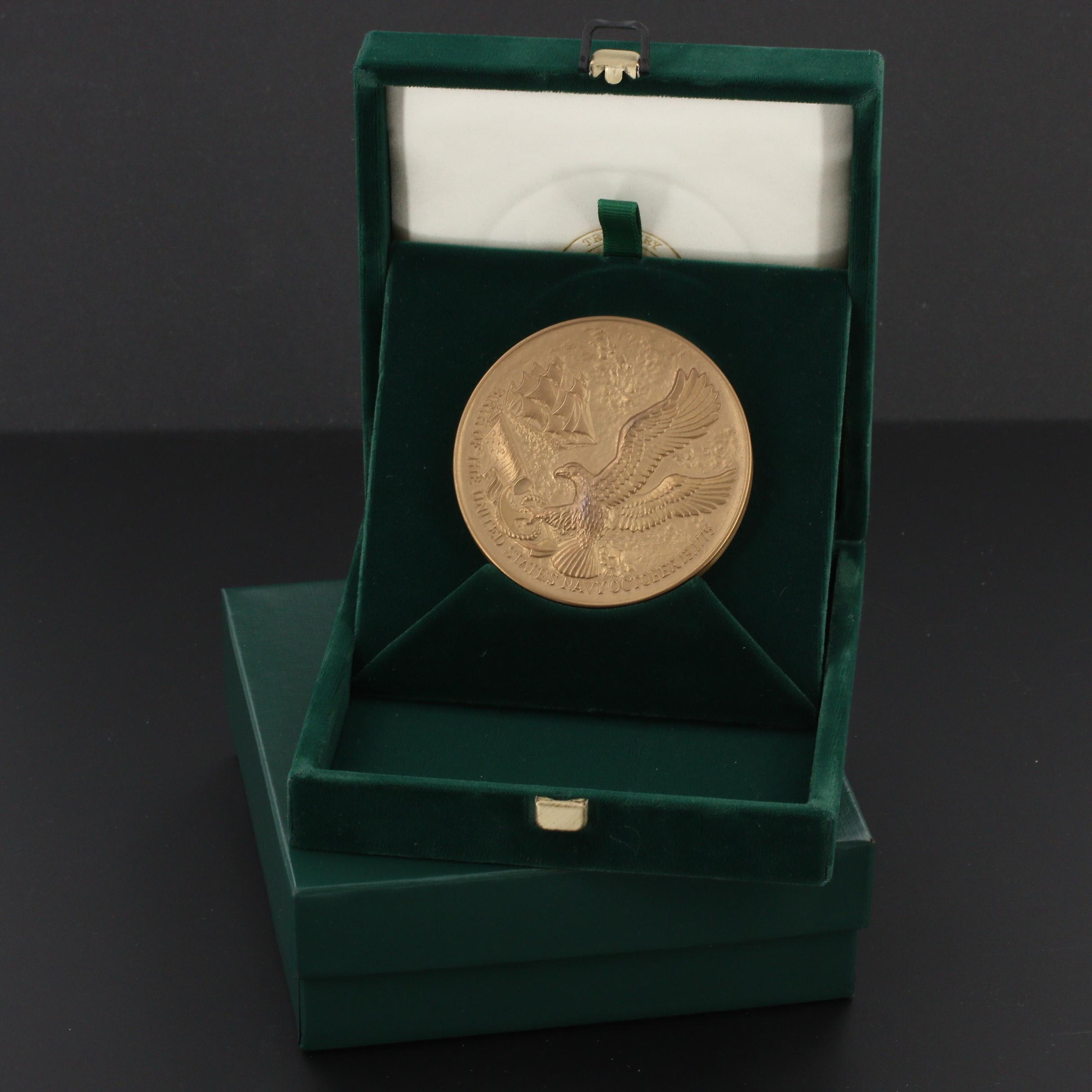 A U.S. Mint 1975 Navy Bicentennial Commemorative Bronze Medal
