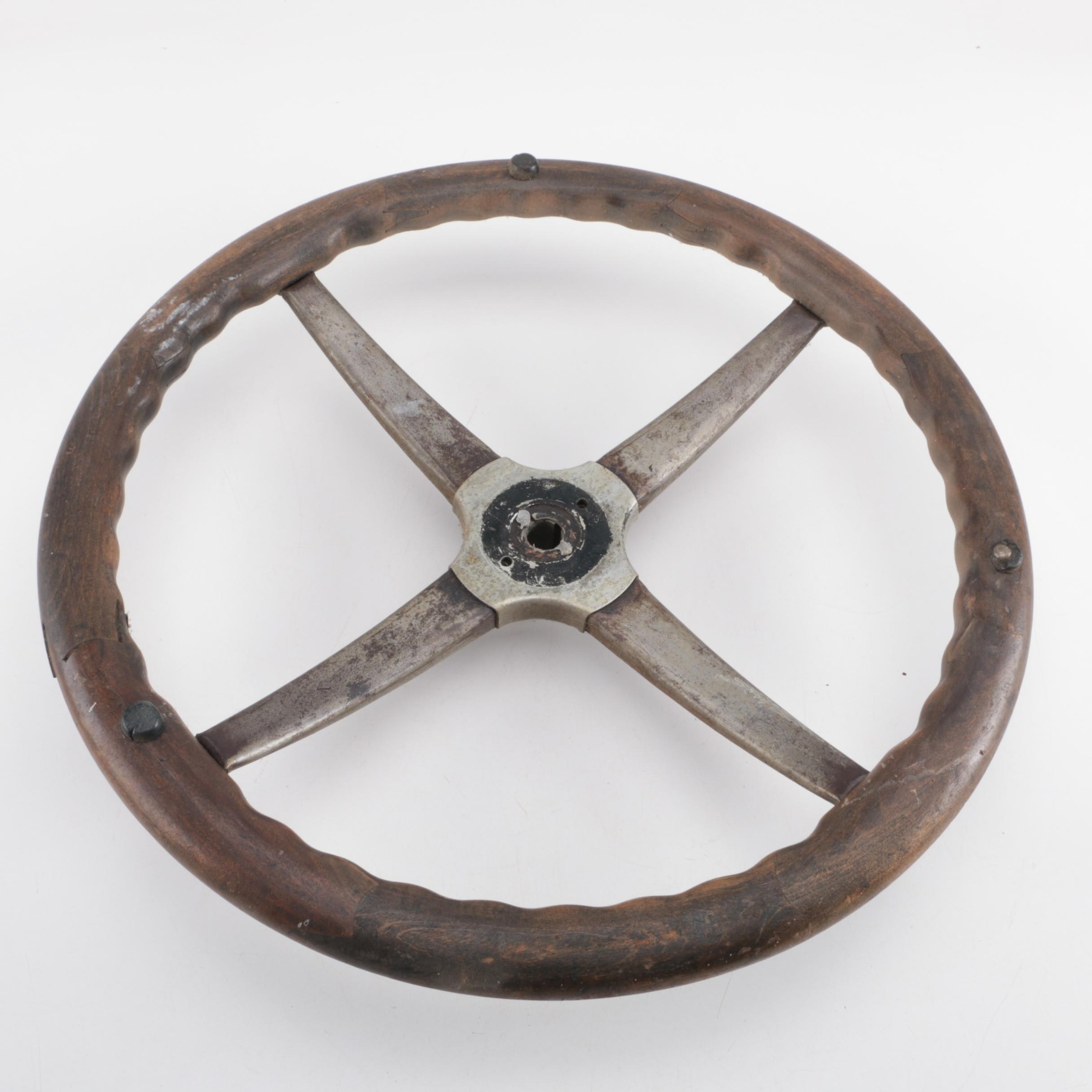 Wooden Steering Wheel, 20th Century