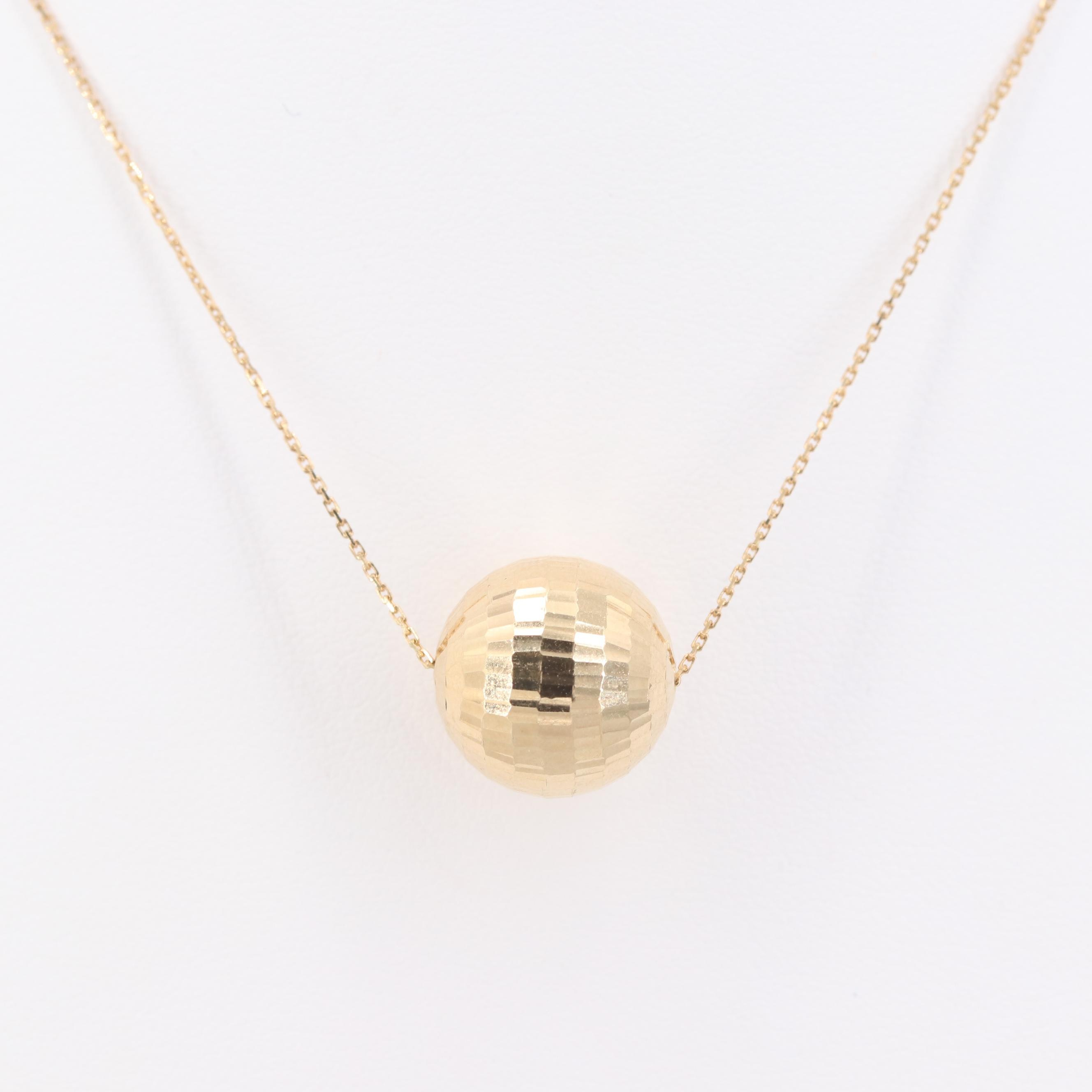 14K Yellow Gold Pendant Necklace