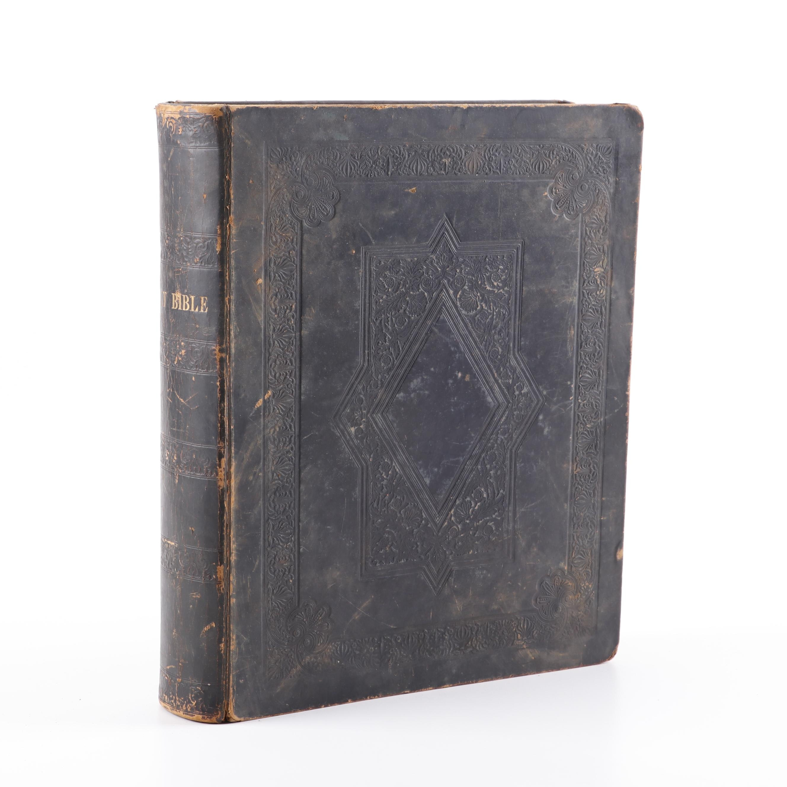 1838 Leather Bound Bible