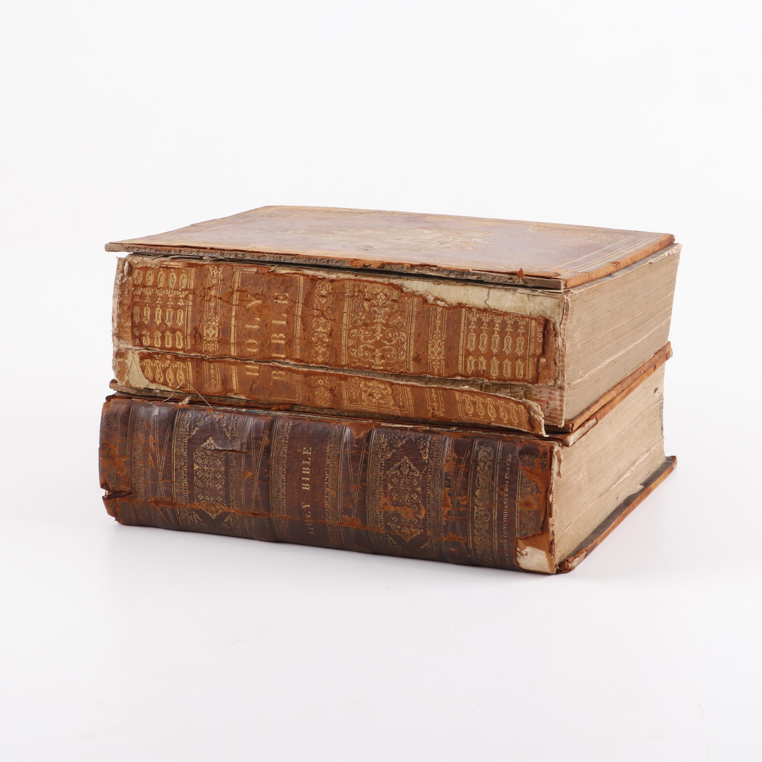 1834 and 1850 Leather Bound Bibles