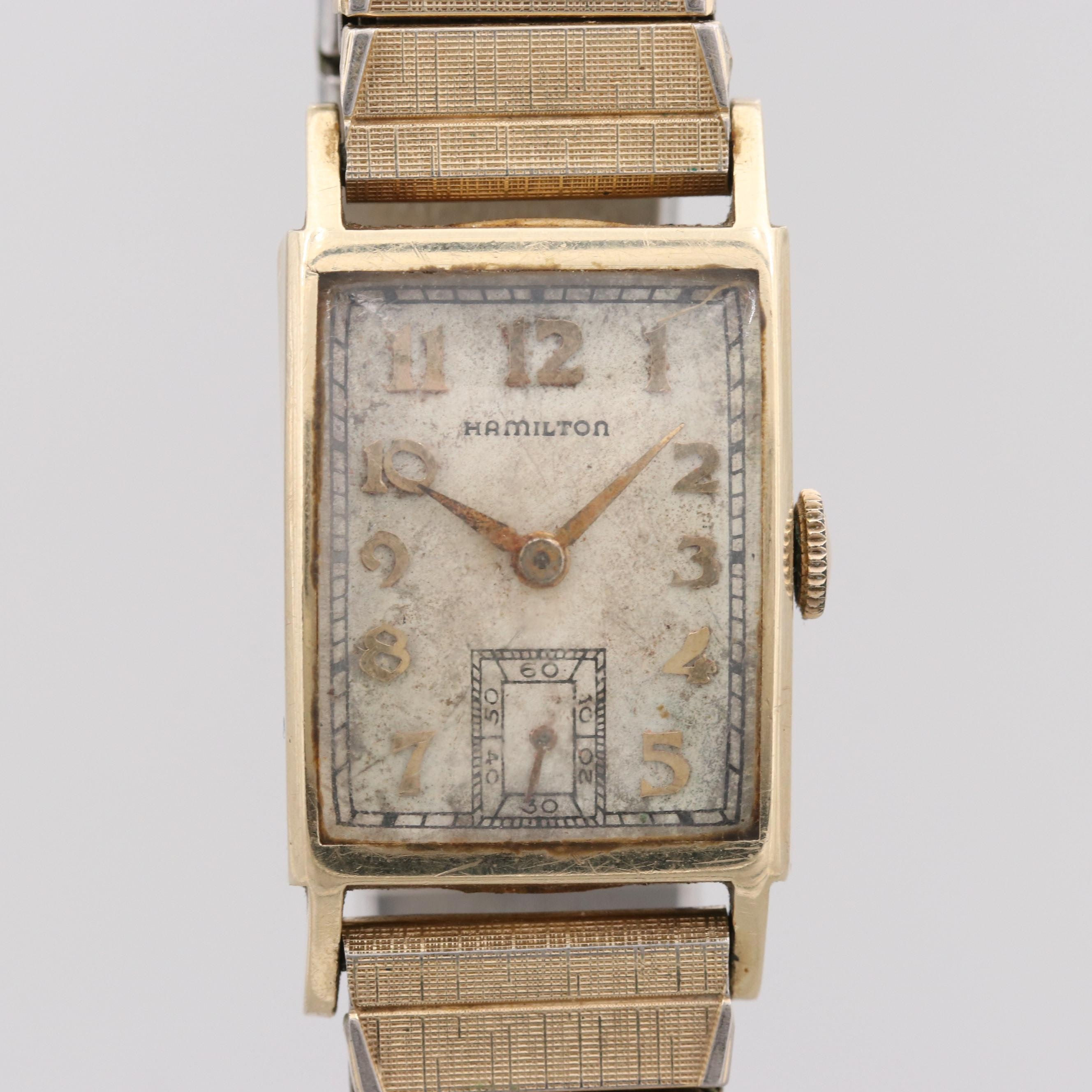 "Hamilton ""Cambridge"" 14K Yellow Gold Wristwatch, 1947"