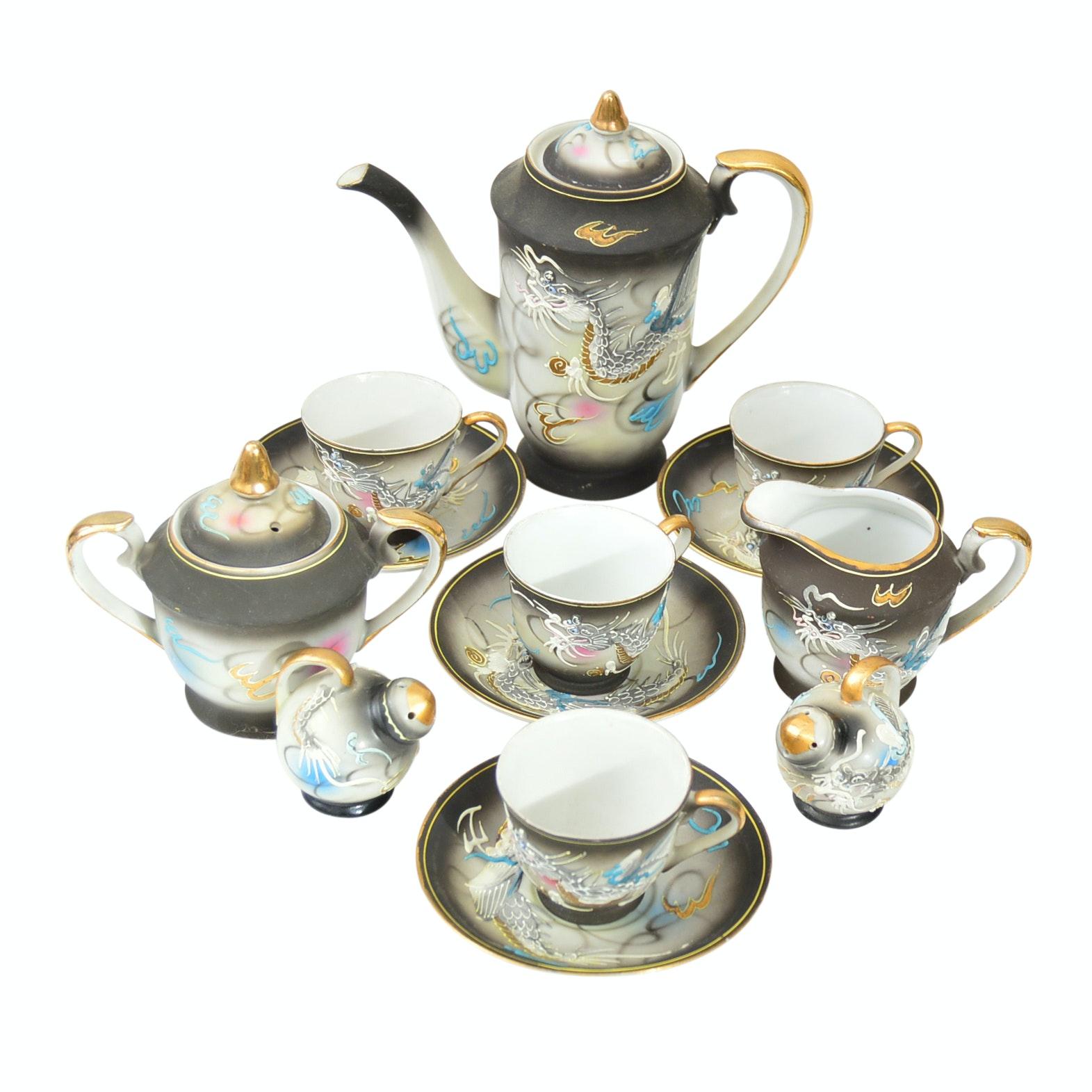 Vintage Japanese Dragon Ware Porcelain Tea Set