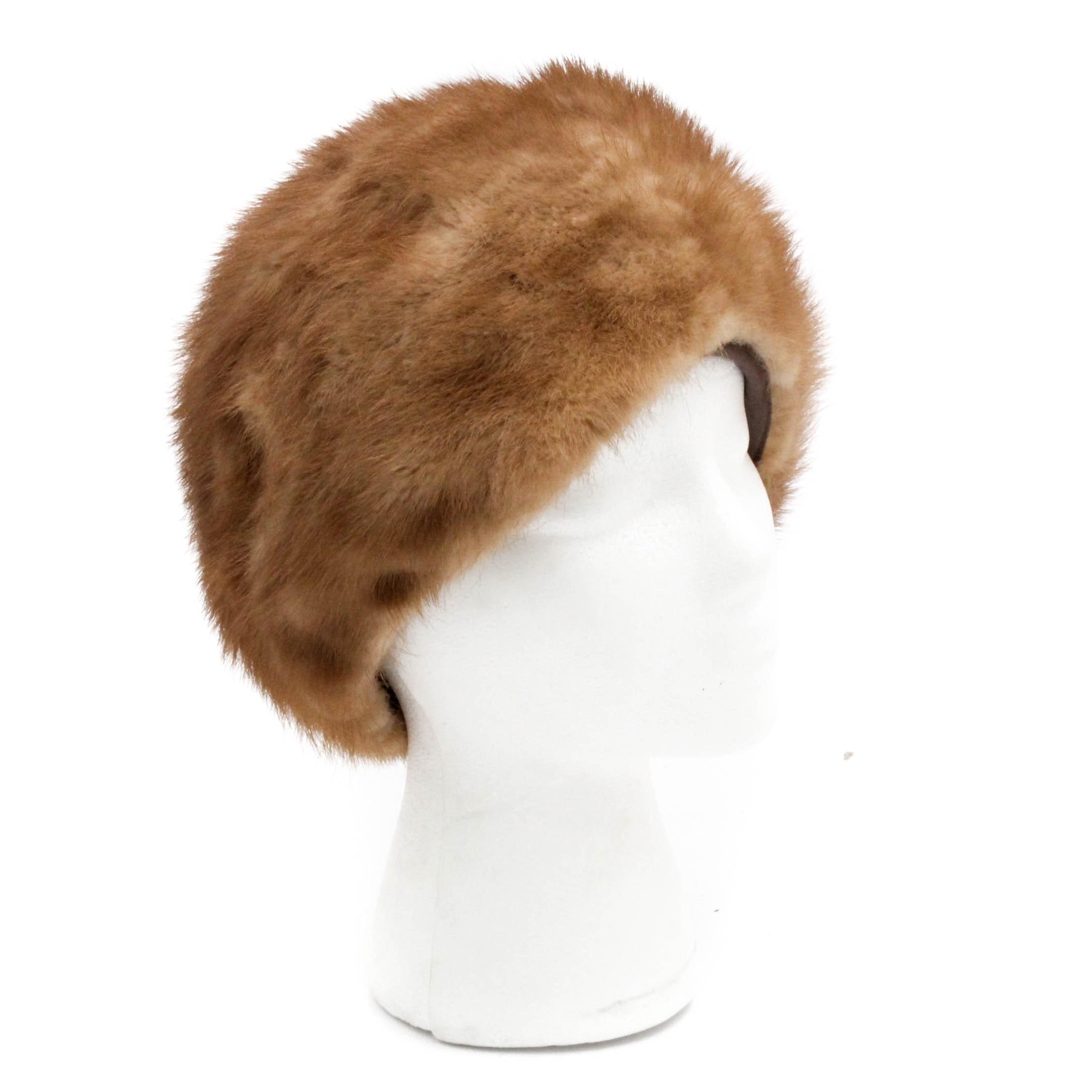 Marché Mink Fur Hat, 1960s Vintage