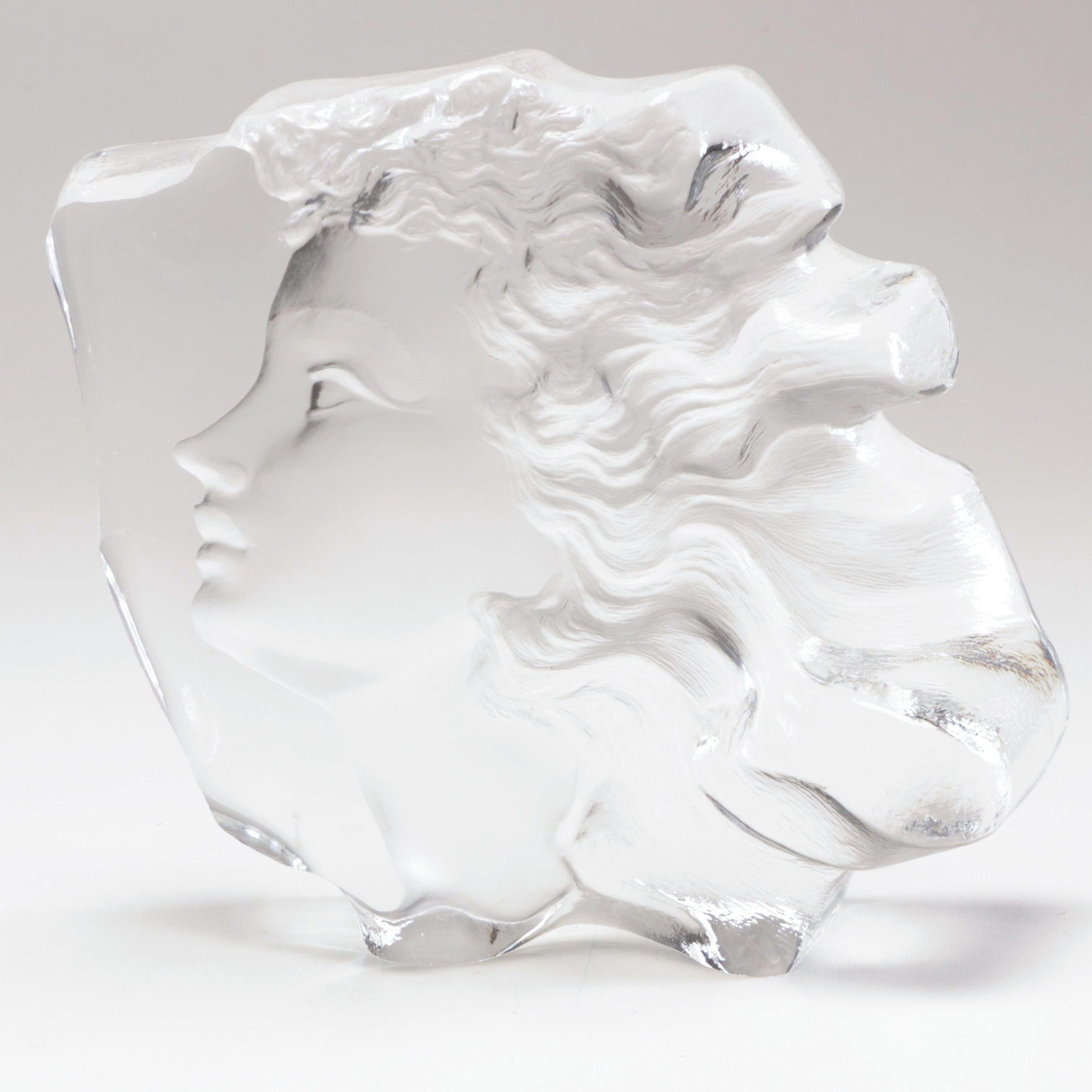 Greco-Roman Figural Mold Blown Glass Sculpture