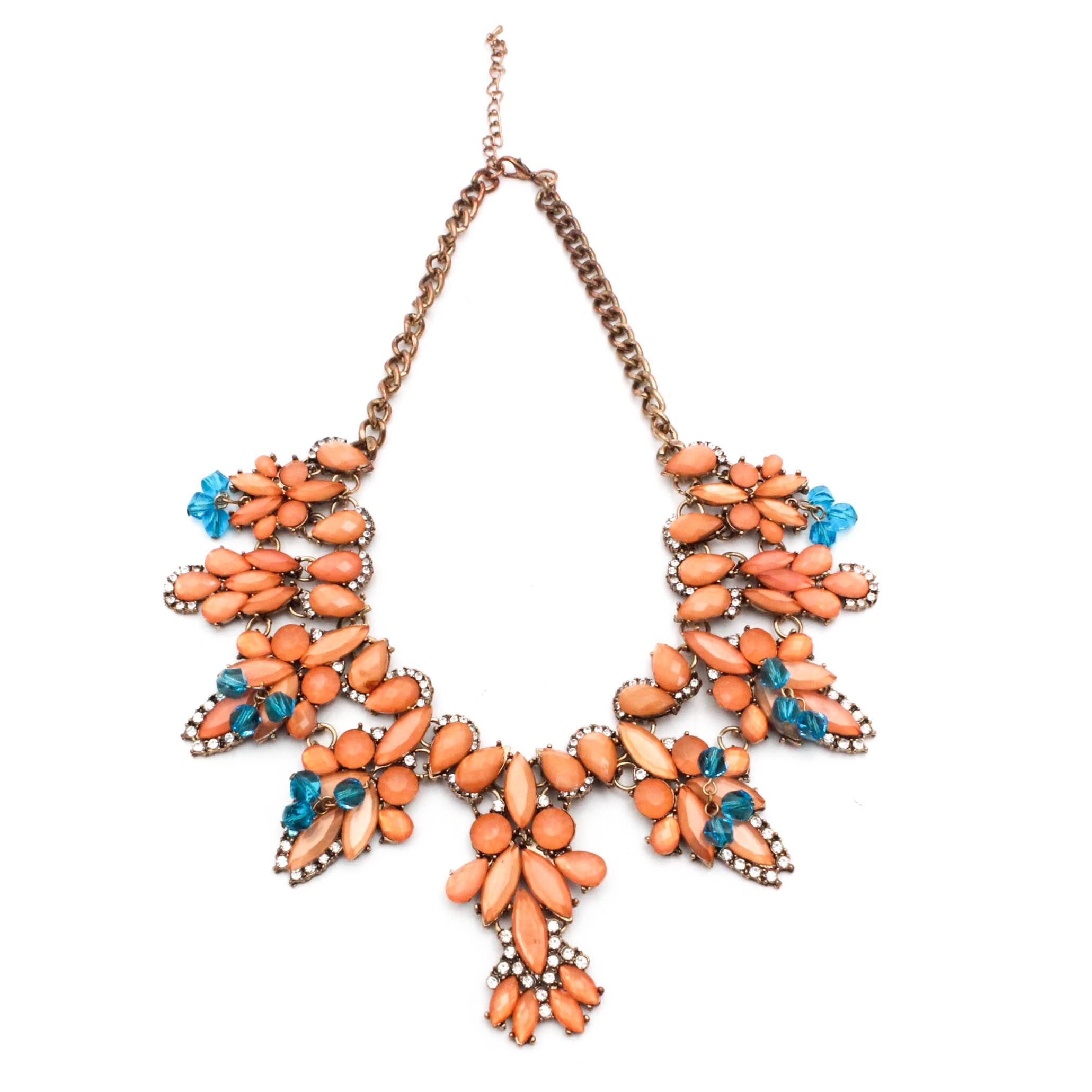 Rhinestone and Crystal Statement Necklace
