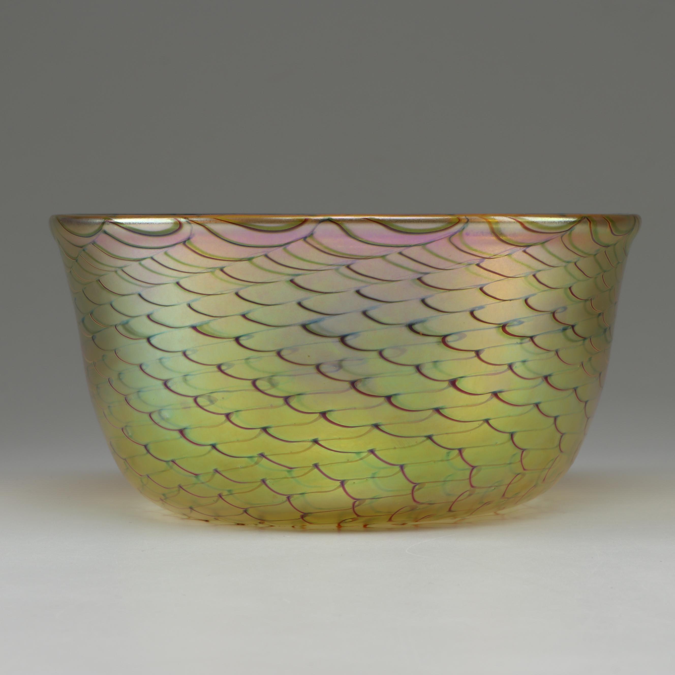 """Tiffany Studios Favrile """"Gold Lustre"""" Glass Bowl, circa 1900"""