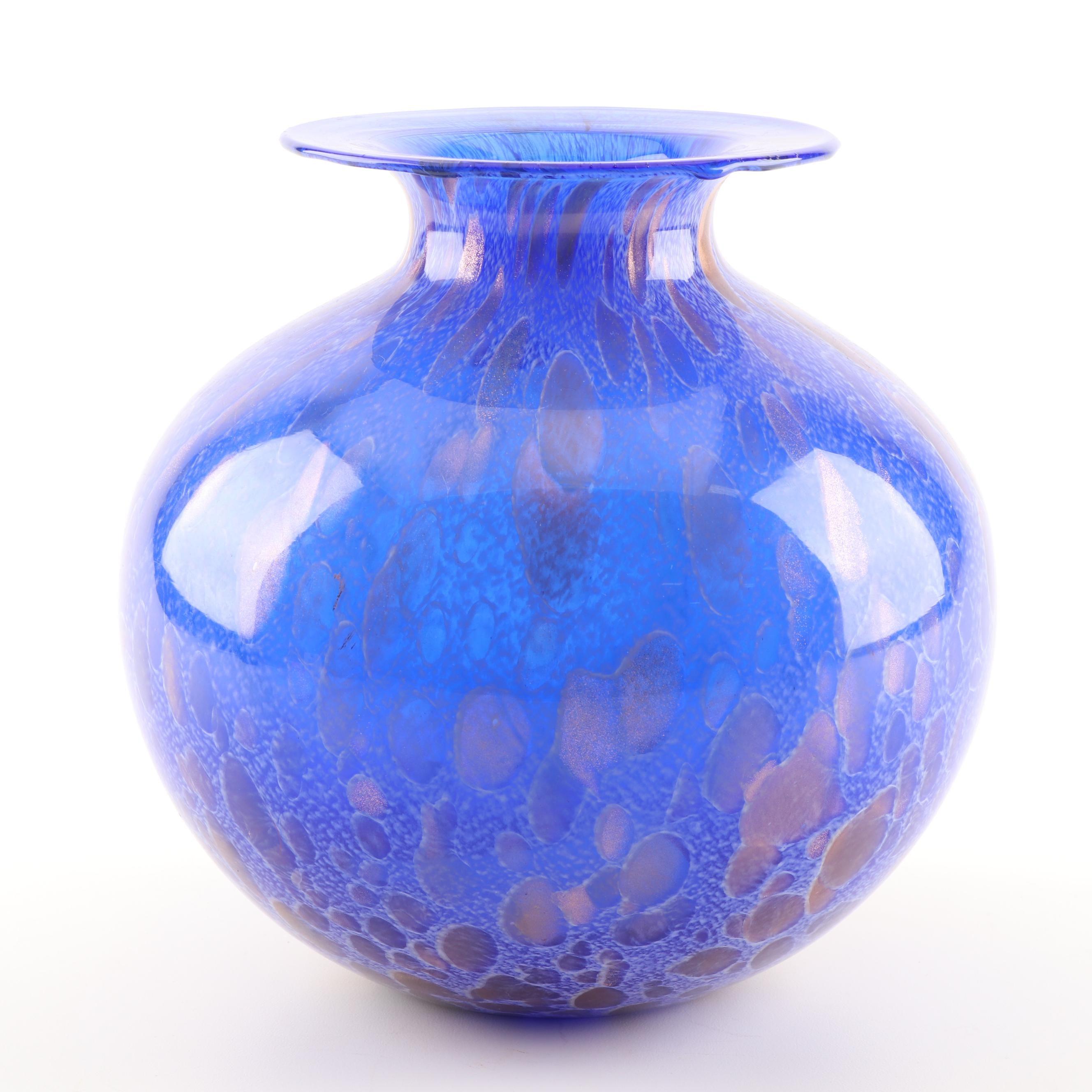 Azzurra Italian Art Glass Vase
