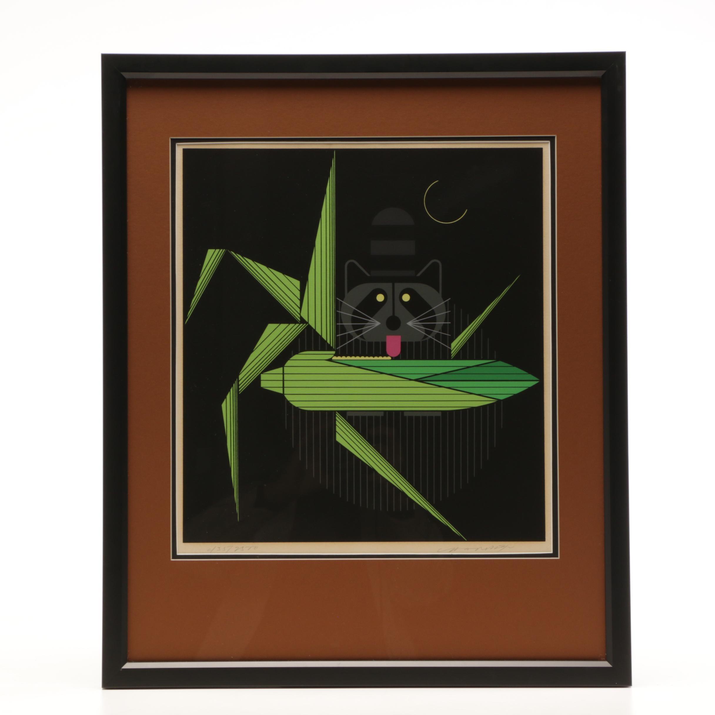 """Charley Harper Limited Edition Serigraph """"Cornprone"""""""