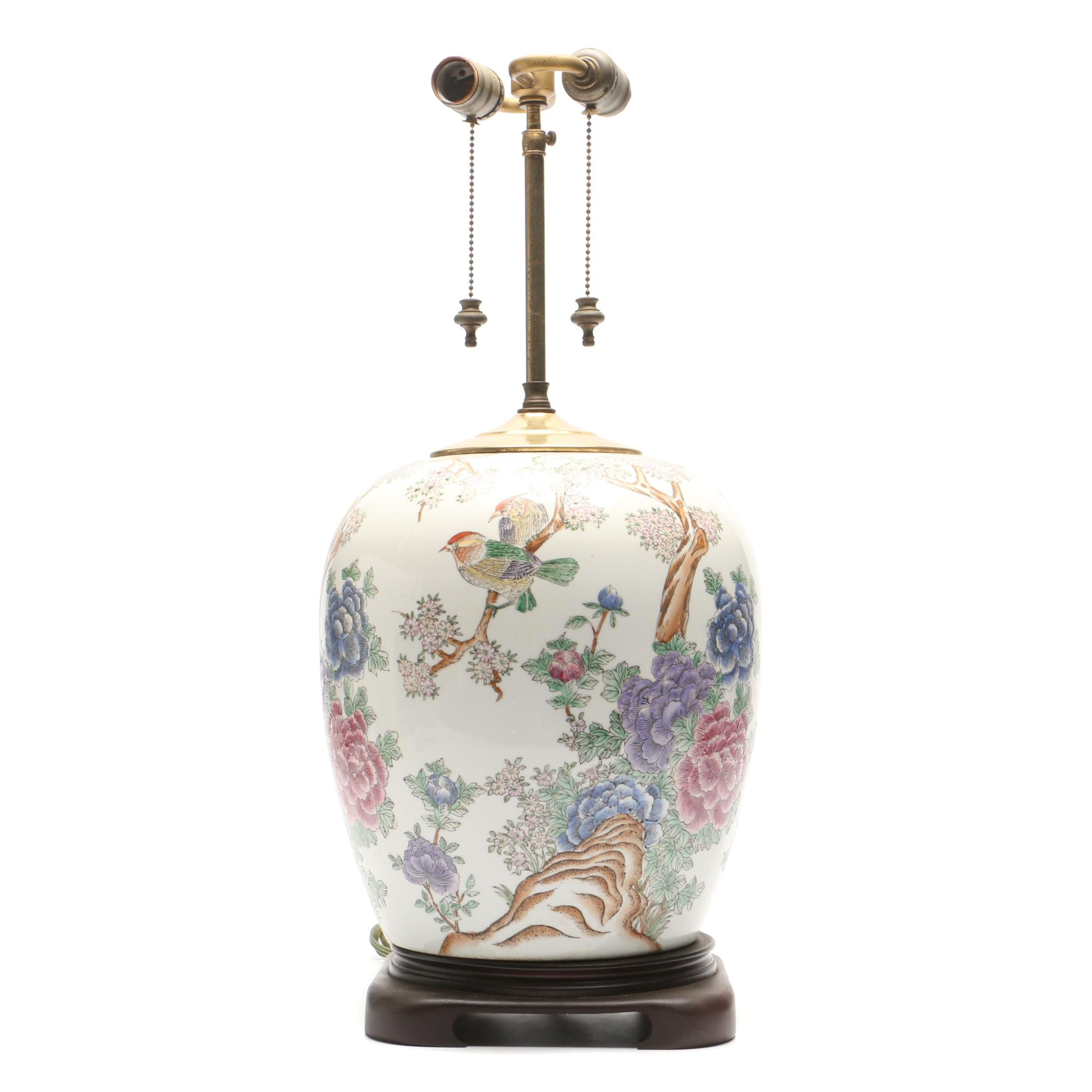 Chinoiserie Porcelain Vase Table Lamp