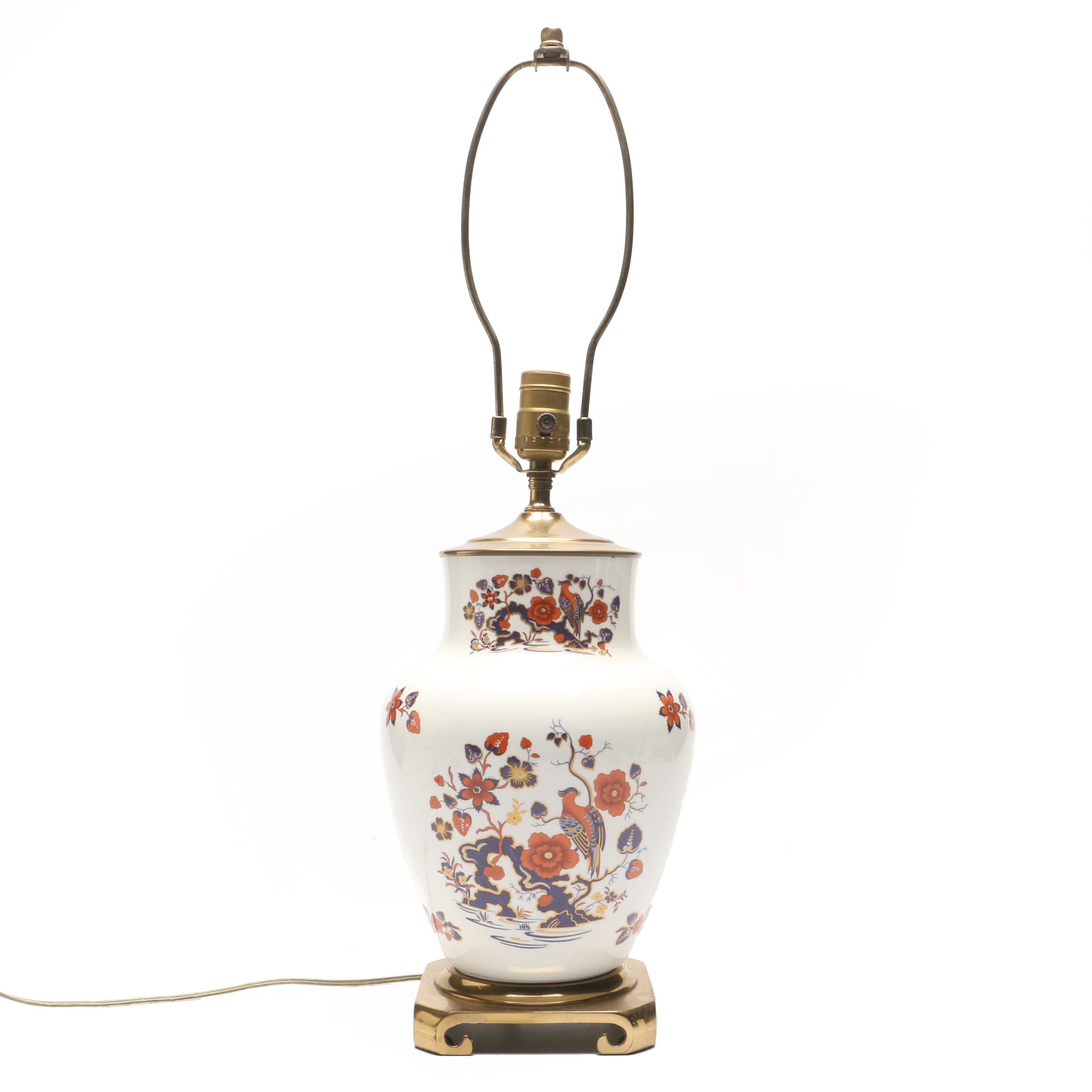 Imari Style Ceramic Vase-Shaped Table Lamp