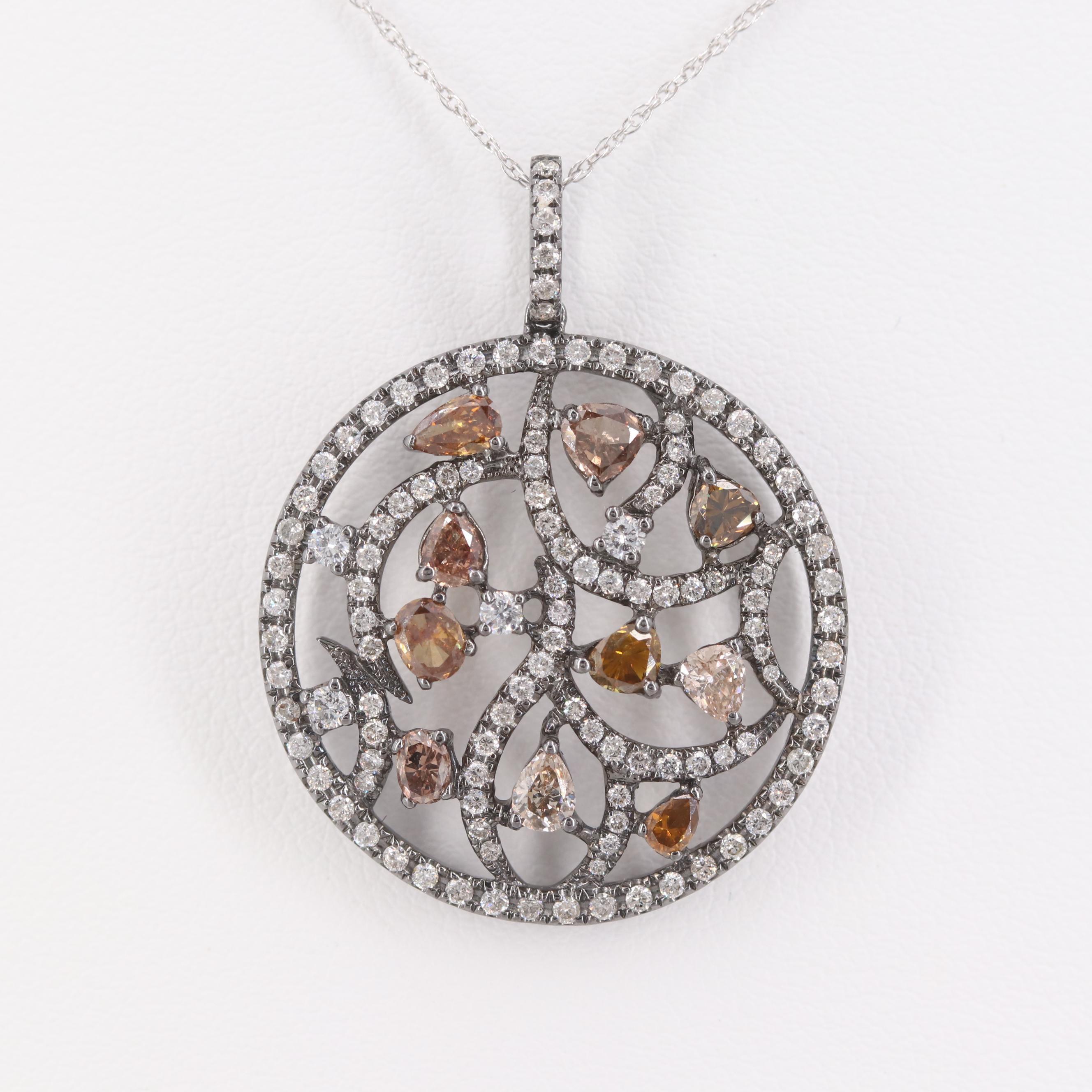 18K White Gold 1.61 CTW Diamond Necklace