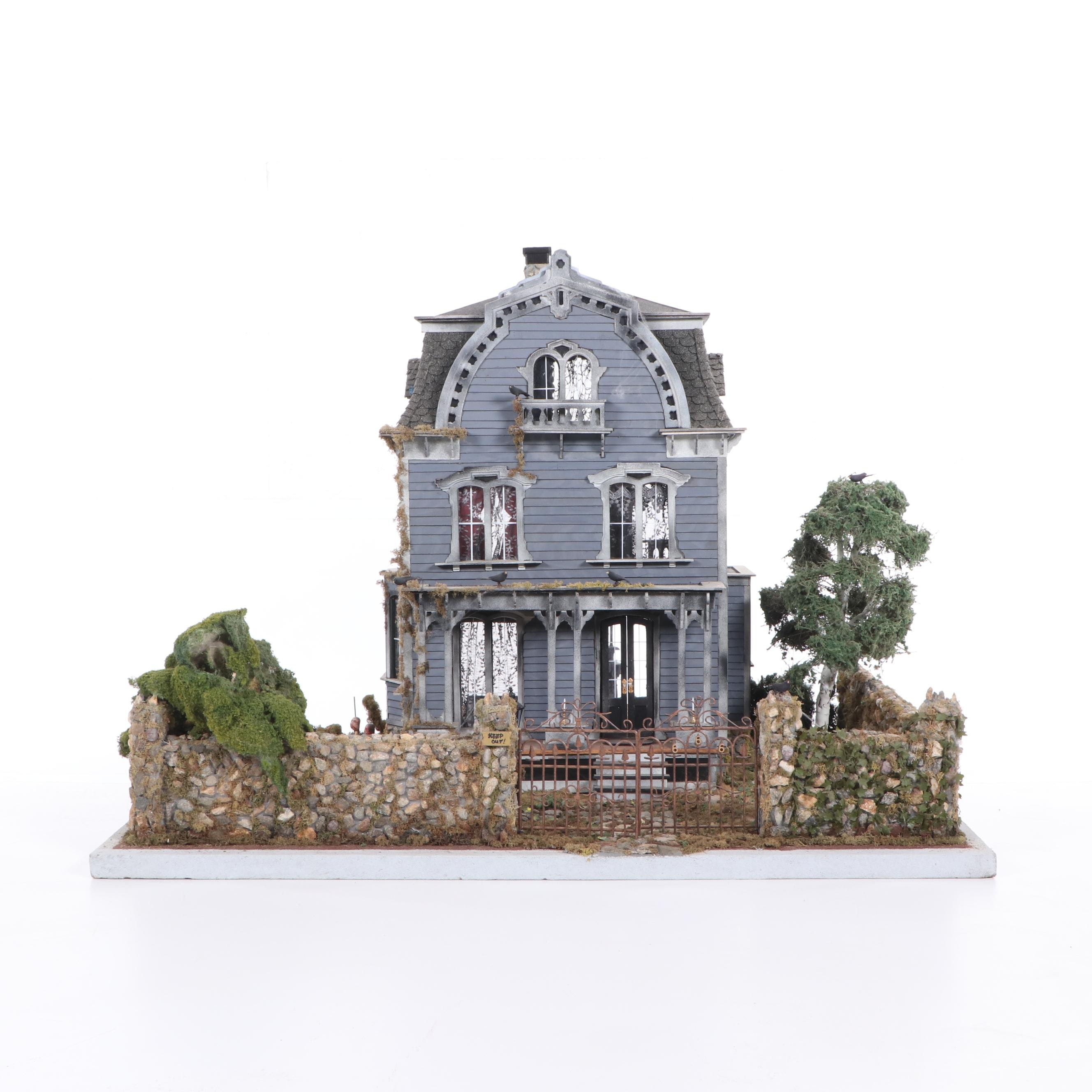 Custom Haunted House Dollhouse with Secret Rooms and Miniatures