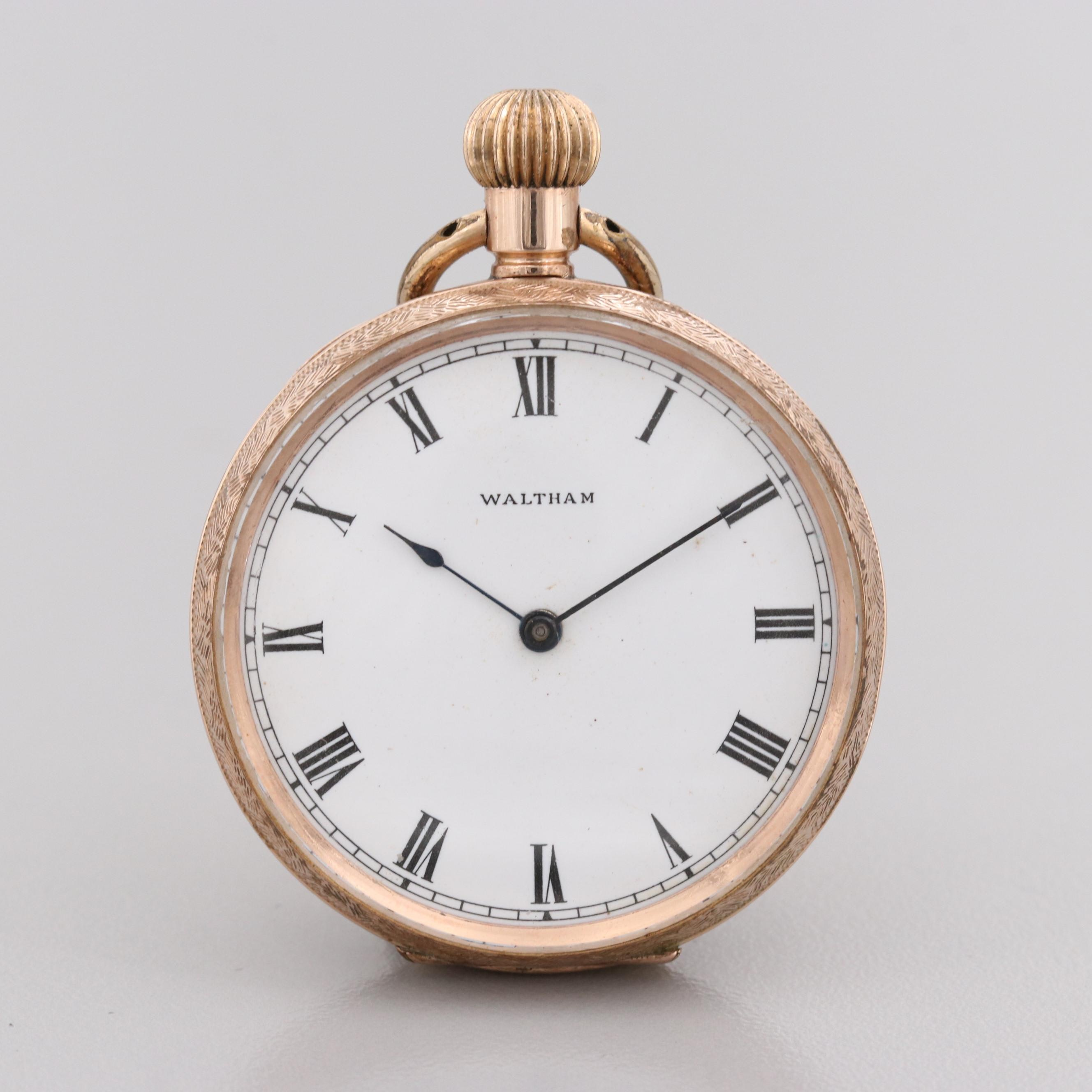 Waltham 10K Rose Gold Pocket Watch, Circa 1902