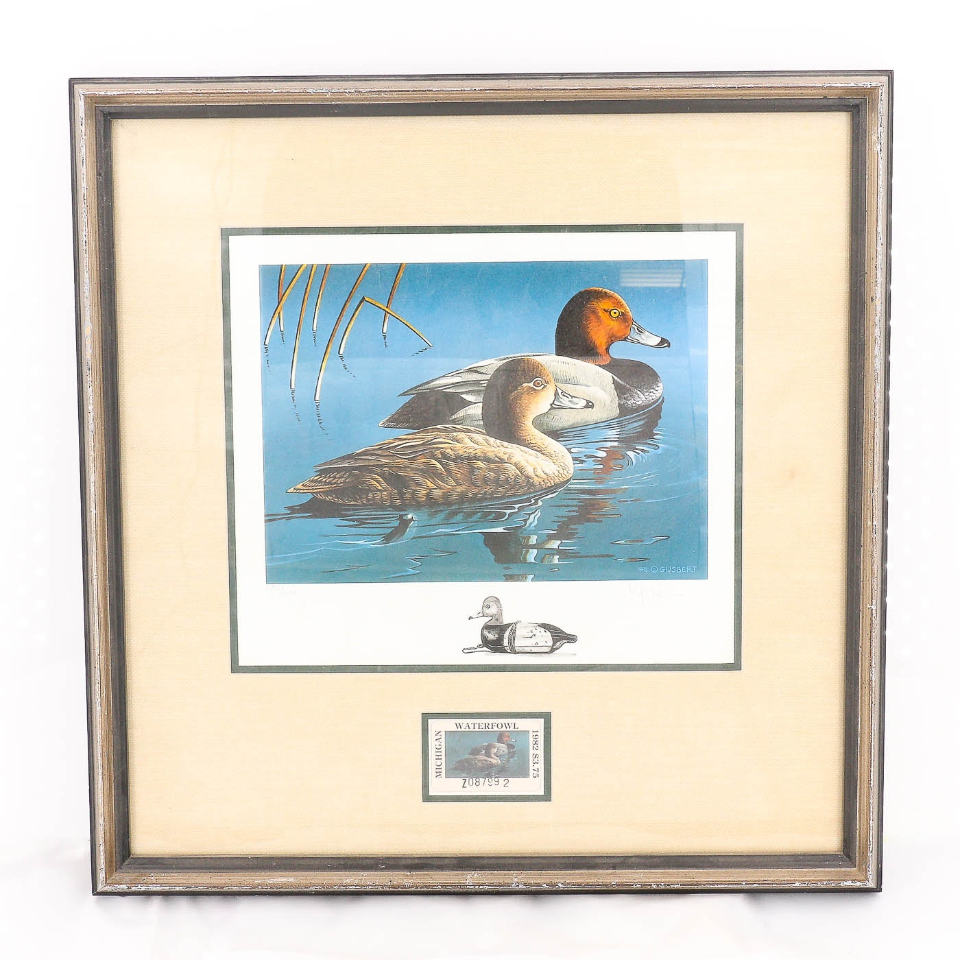 Gijsbert van Frankenhuyzen Michigan Duck Stamp Offset Lithograph and Stamp