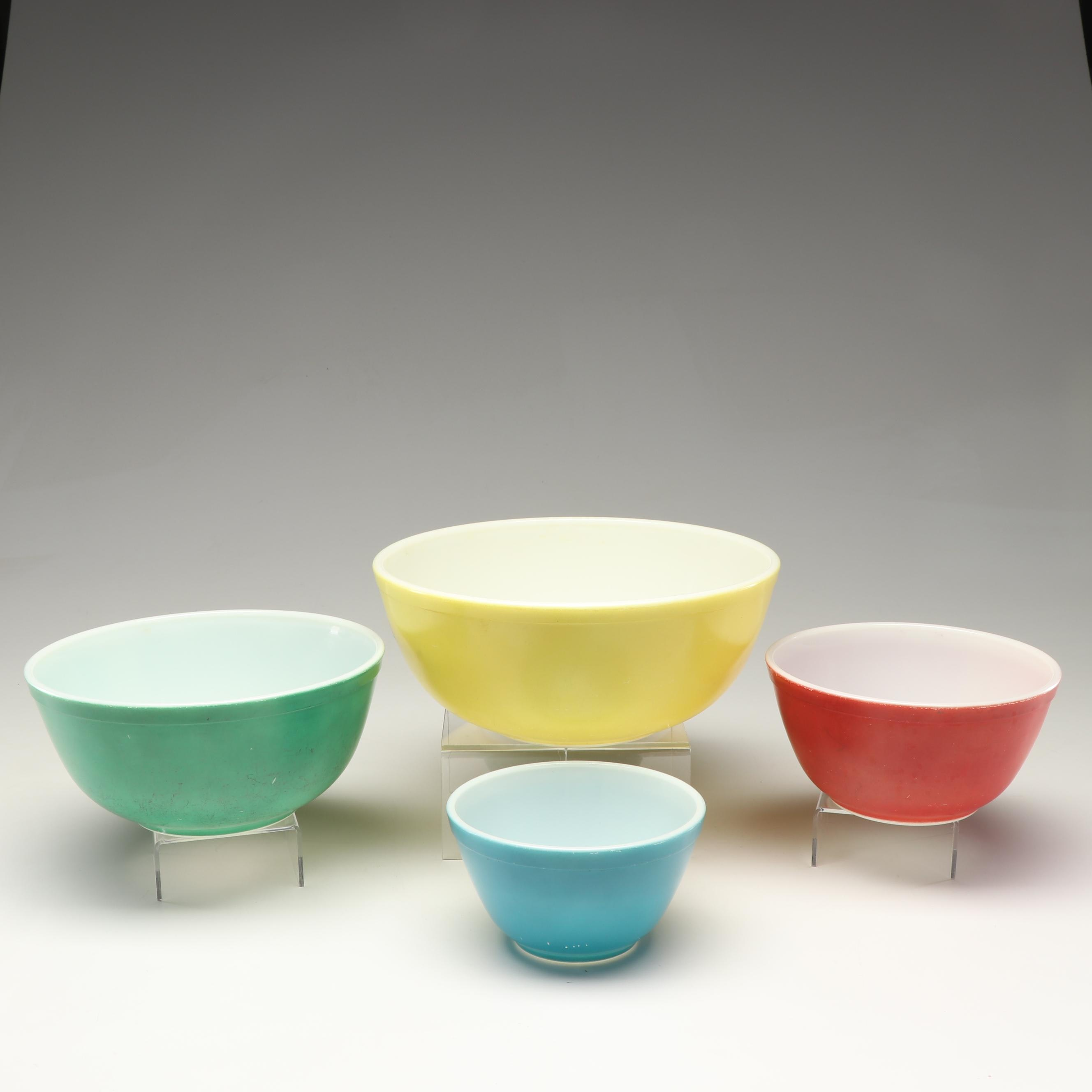 "Pyrex ""Primary Colors"" Ovenware Bowls, Mid-20th Century"