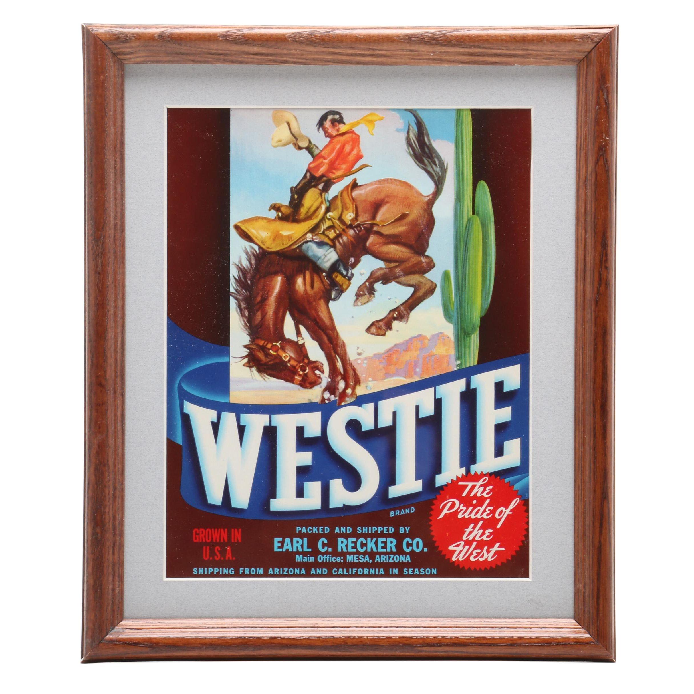 """1940s Crate Label """"Westie"""""""