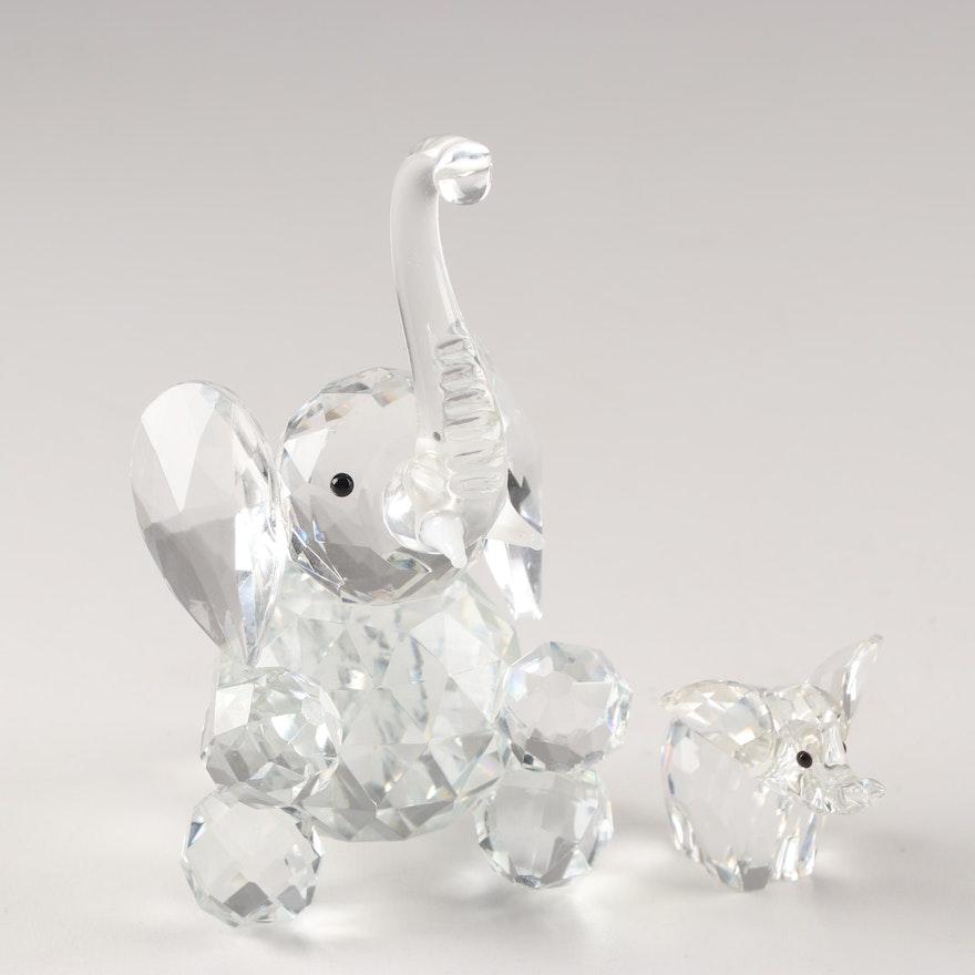 Crystal Elephant Figurines Including Swarovski Ebth