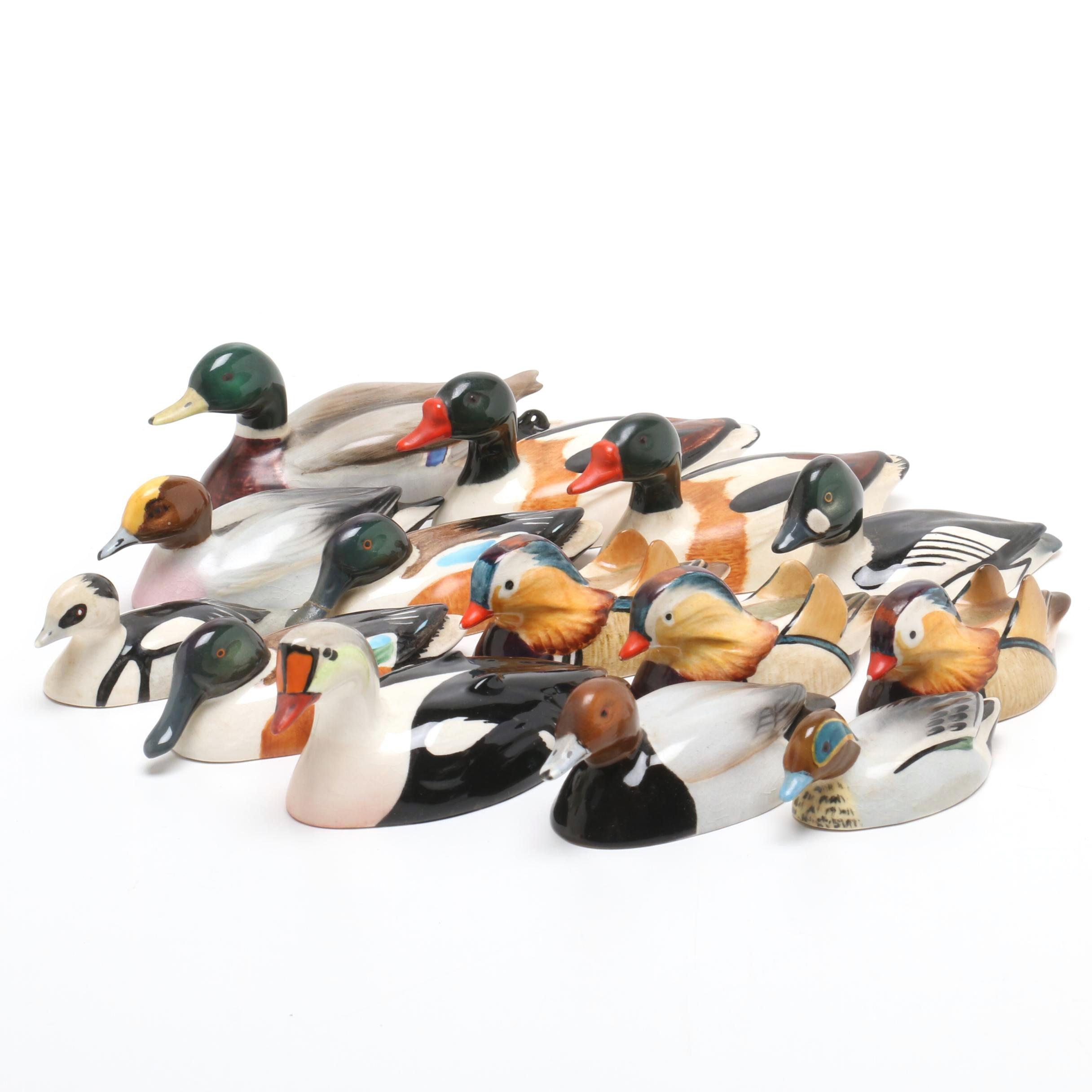 Porcelain Ducks by Peter Scott of Beswick England