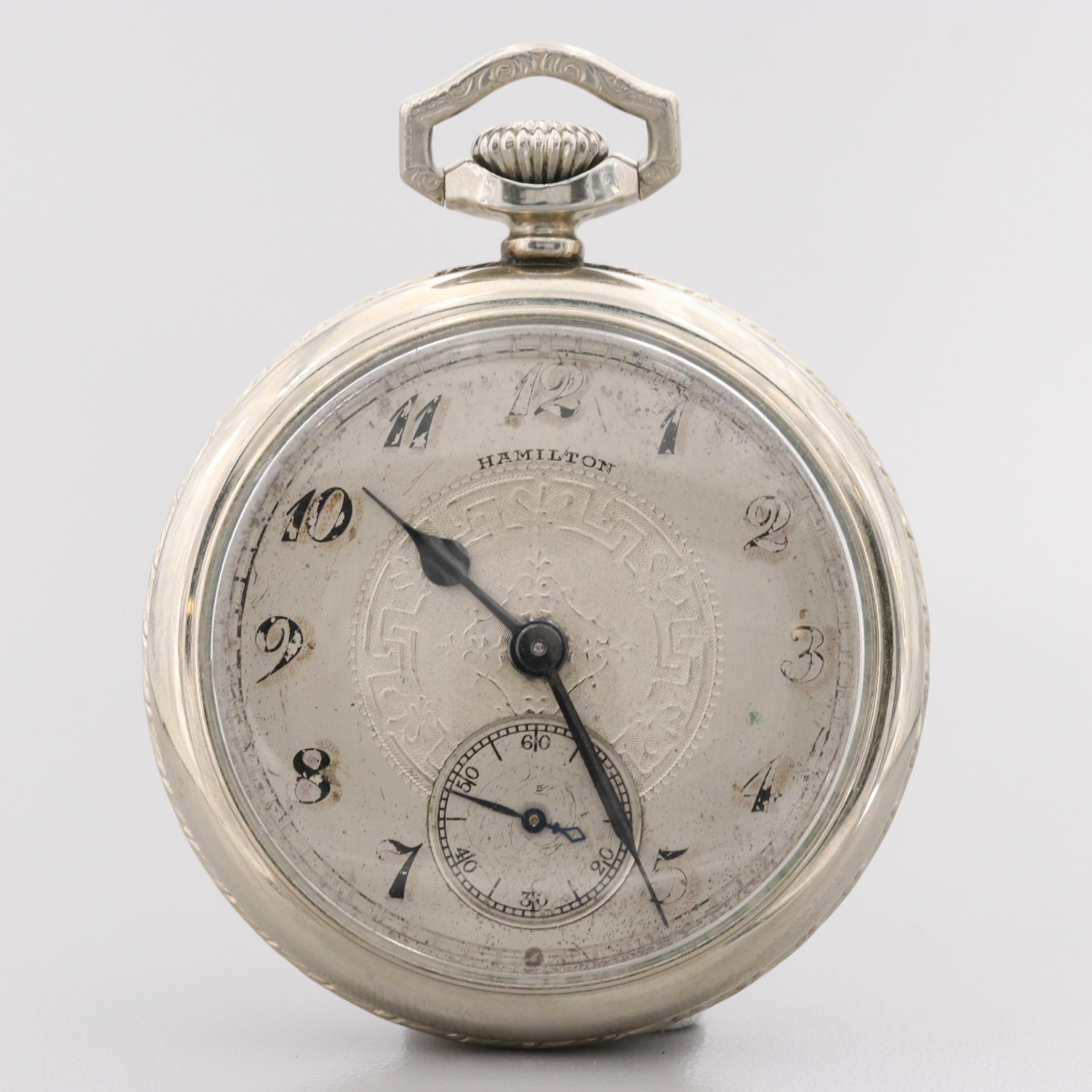 Hamilton 14K Gold Filled Pocket Watch, 1925