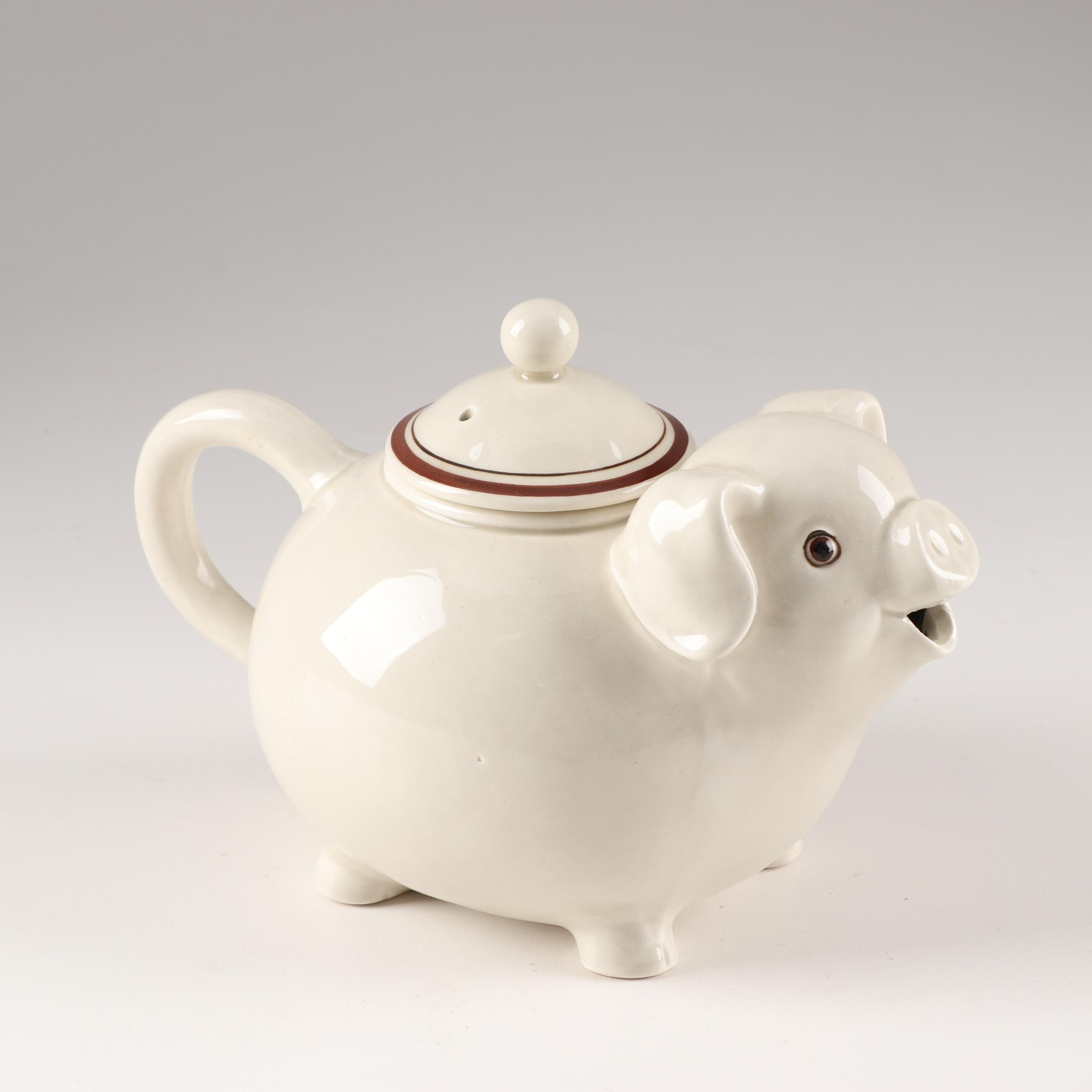 Fitz and Floyd Pig Teapot