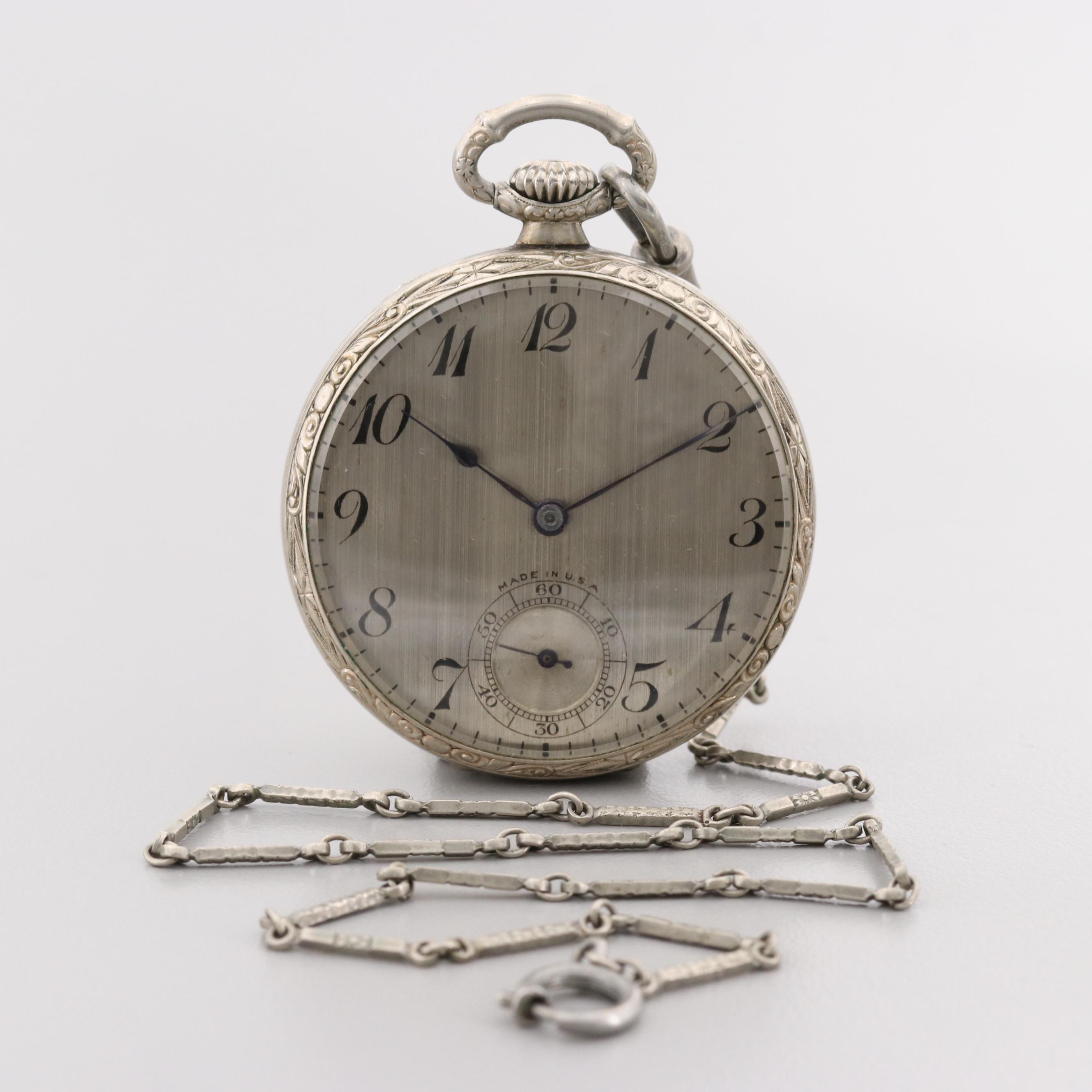 Vintage New York Standard Gold Filled Pocket Watch
