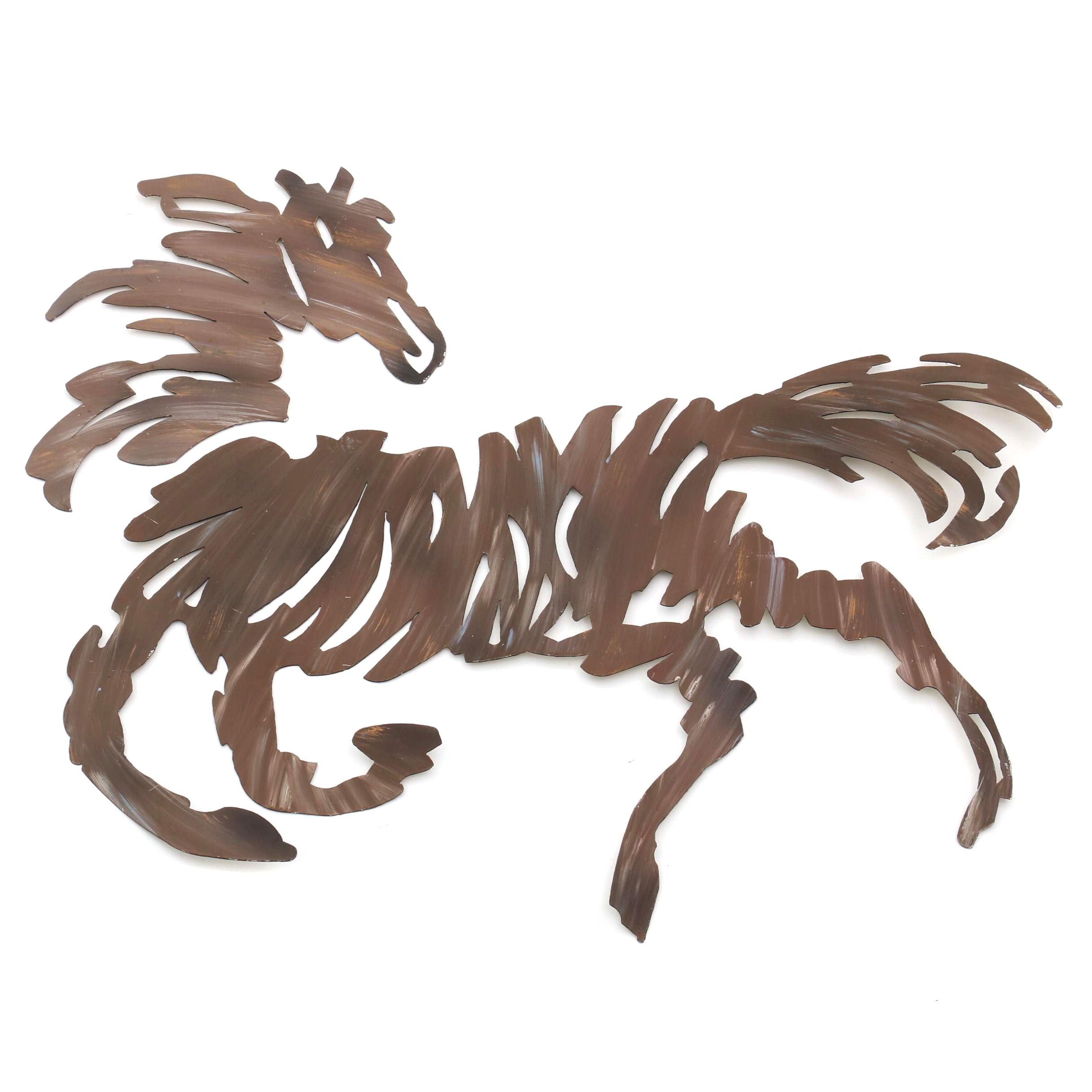 Abstract Sheet Metal Horse Wall Sculpture