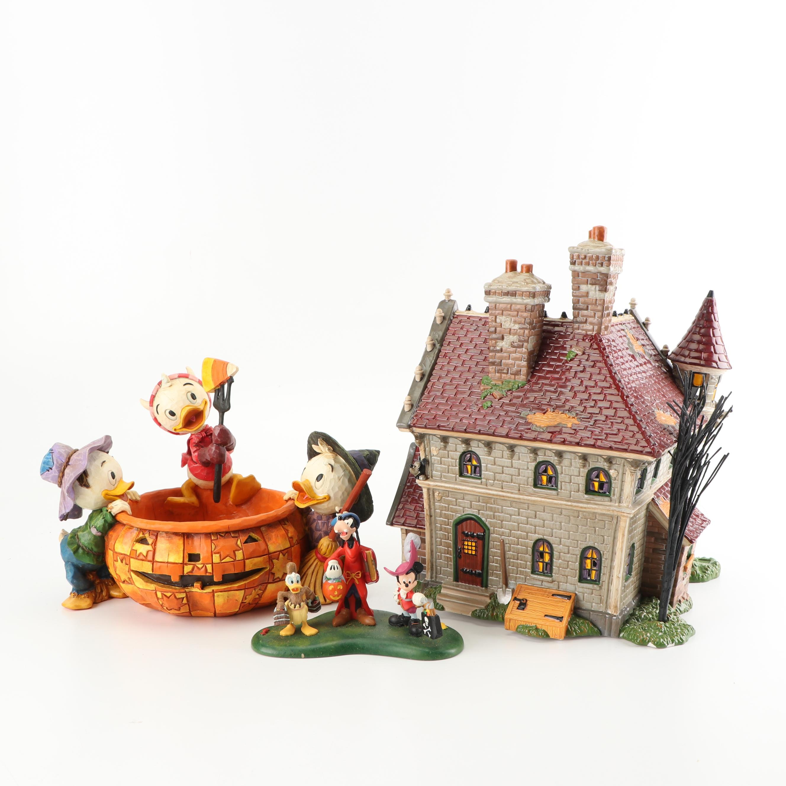 Disney Halloween Village Decor