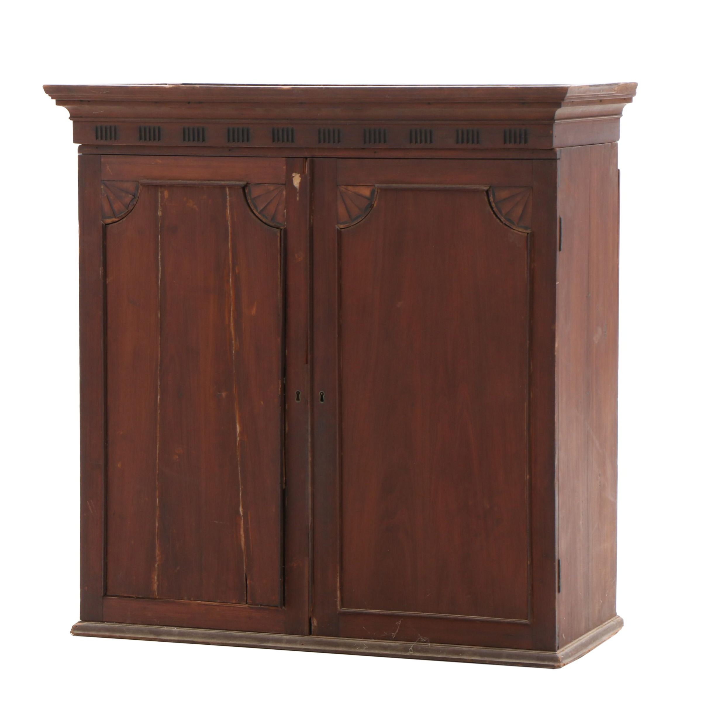 Federal Inlaid Mahogany Cabinet Top