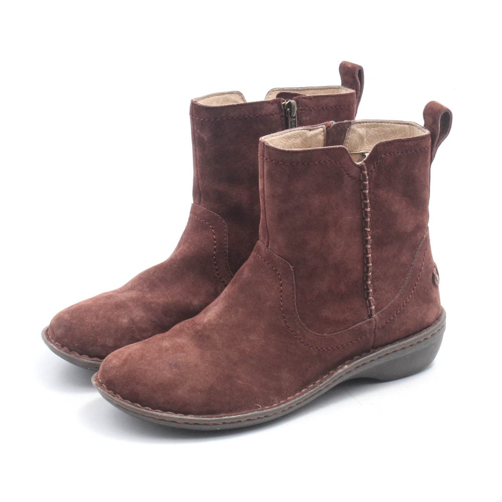 UGG Brown Suede and Shearling Boots
