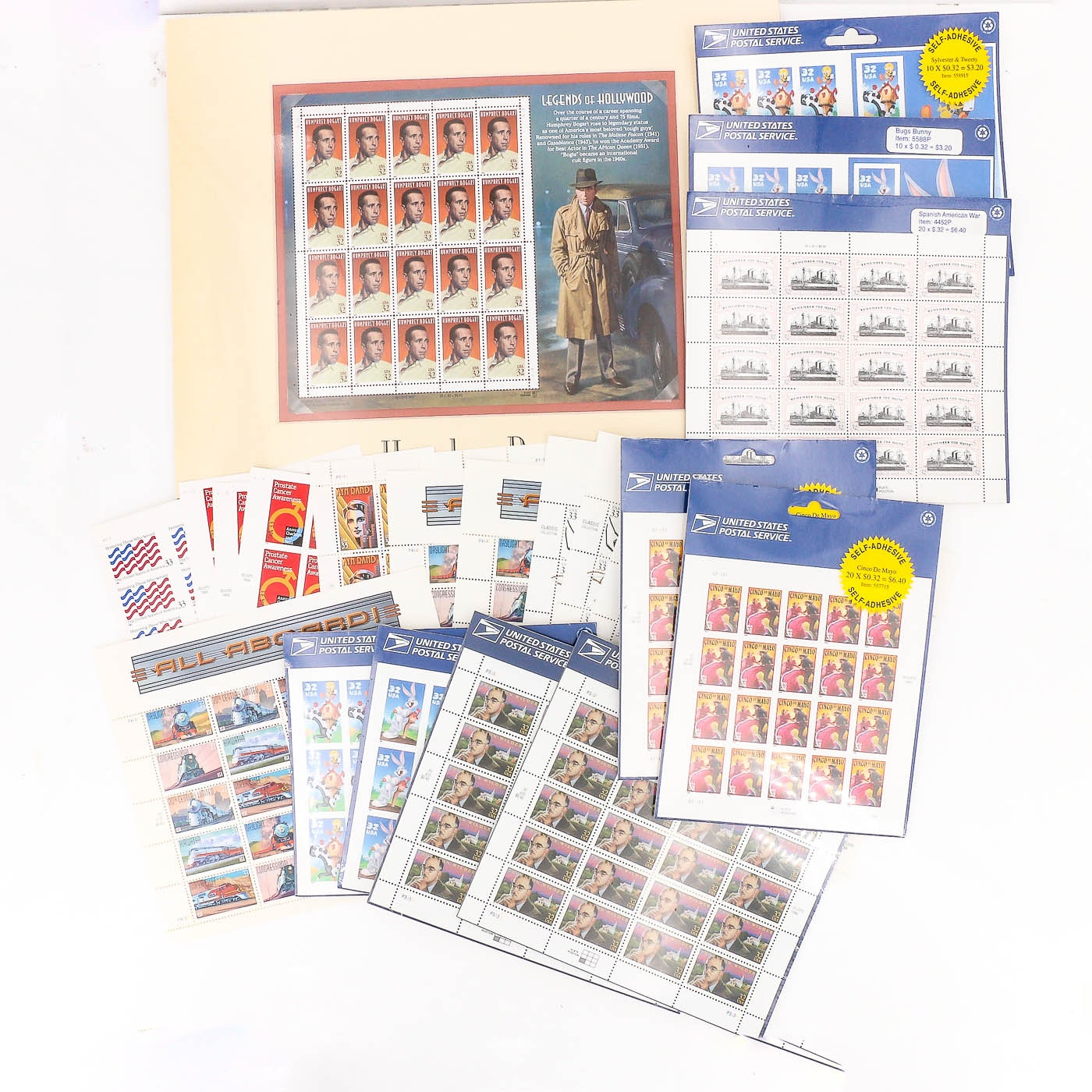 Group of 22 Sheets of U.S. Stamps