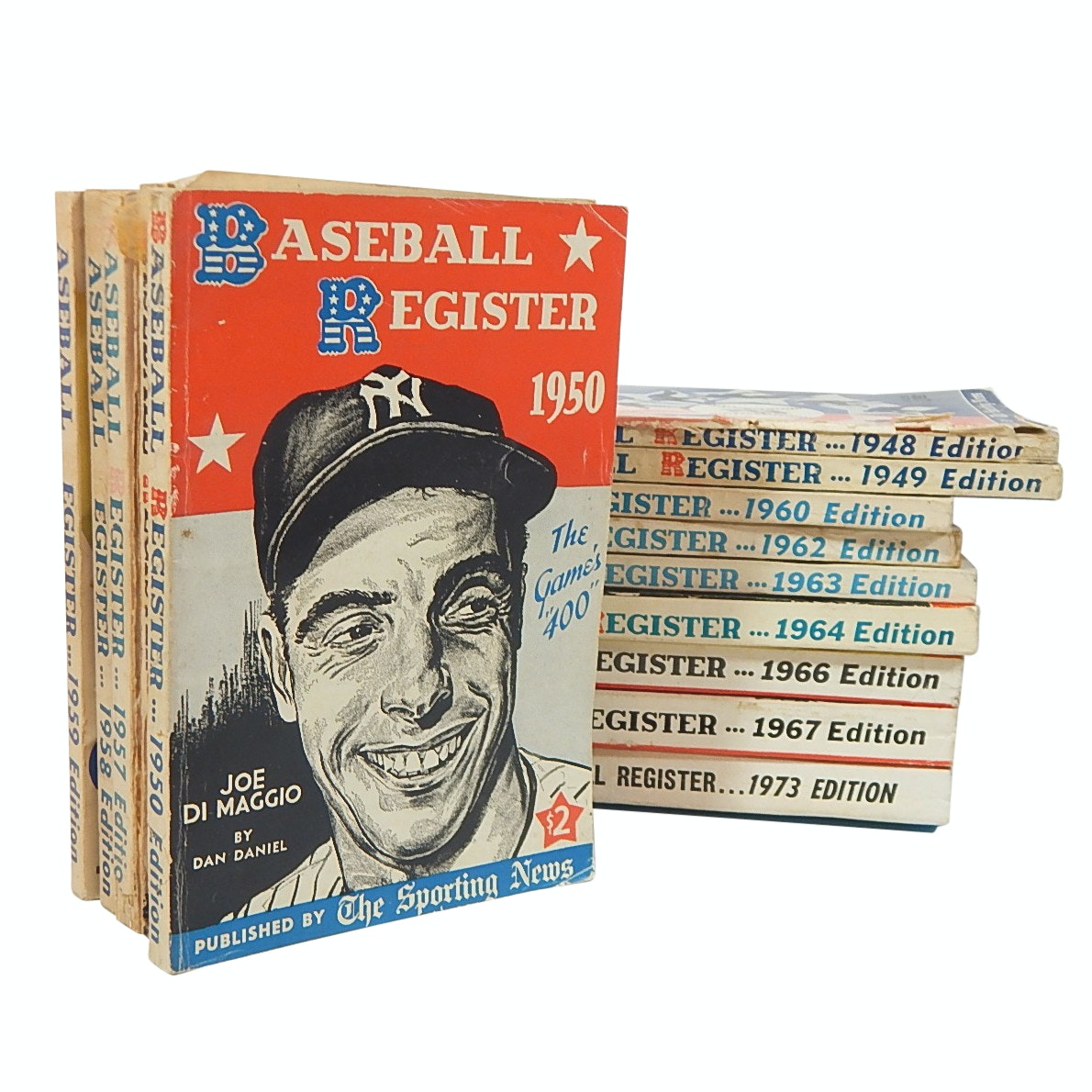 Vintage Baseball Register Books from 1948 with Various Years to 1973