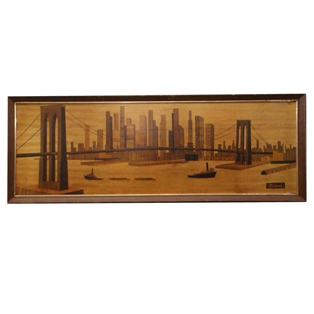 Seivad Print of New York City Skyline