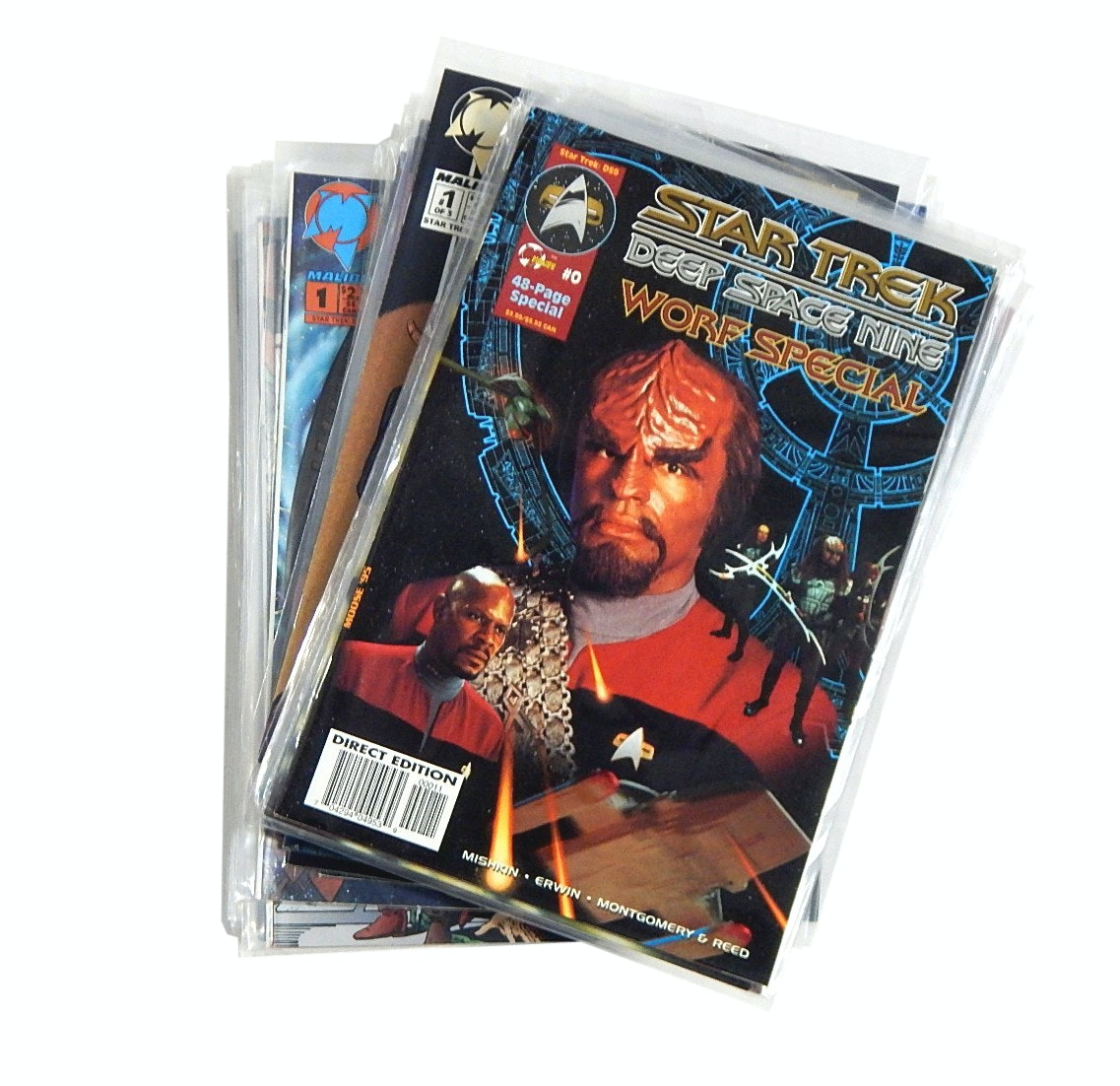 "Modern Age Malibu Comics with ""Star Trek Deep Space Nine"" with Issues #0 and #1"