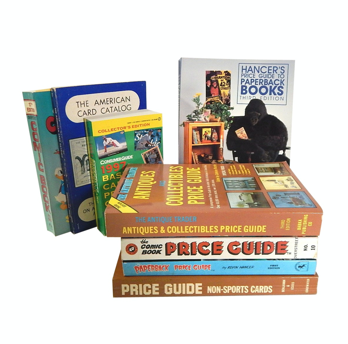 Price Guides to Trading Cards, Comic Books, Antiques, Paper Back Books