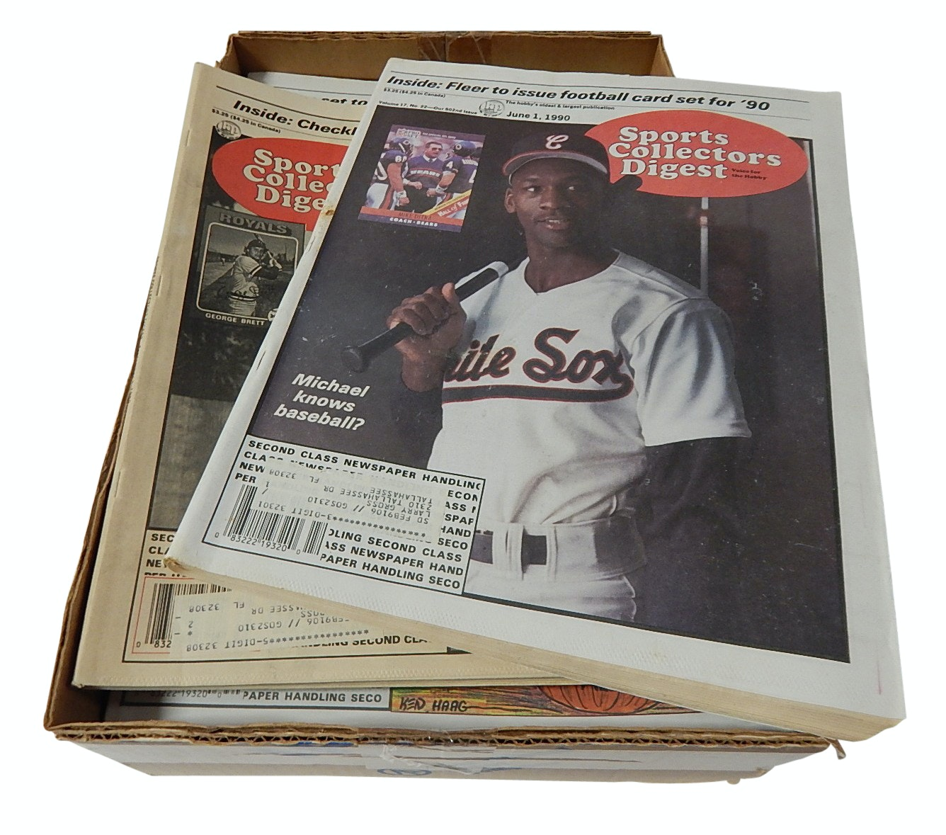 """Box of 1989 and 1990 """"Sports Collectors Digest"""" Magazines"""
