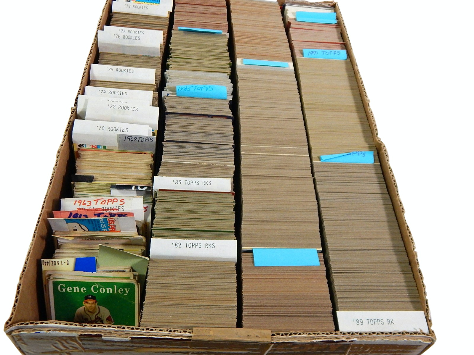 1958 to 1991 Baseball Cards with Rookies, Stars including Clemente, Koufax