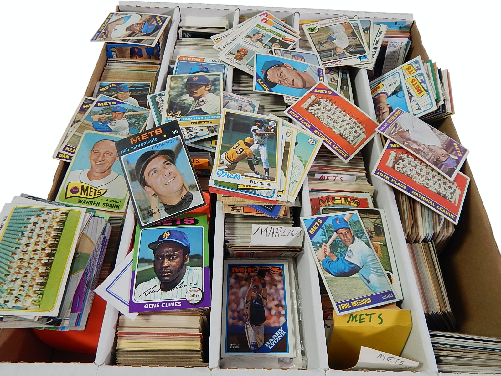 1960s to 1990s New York Mets, Blue Jays, and Marlin Trading Cards