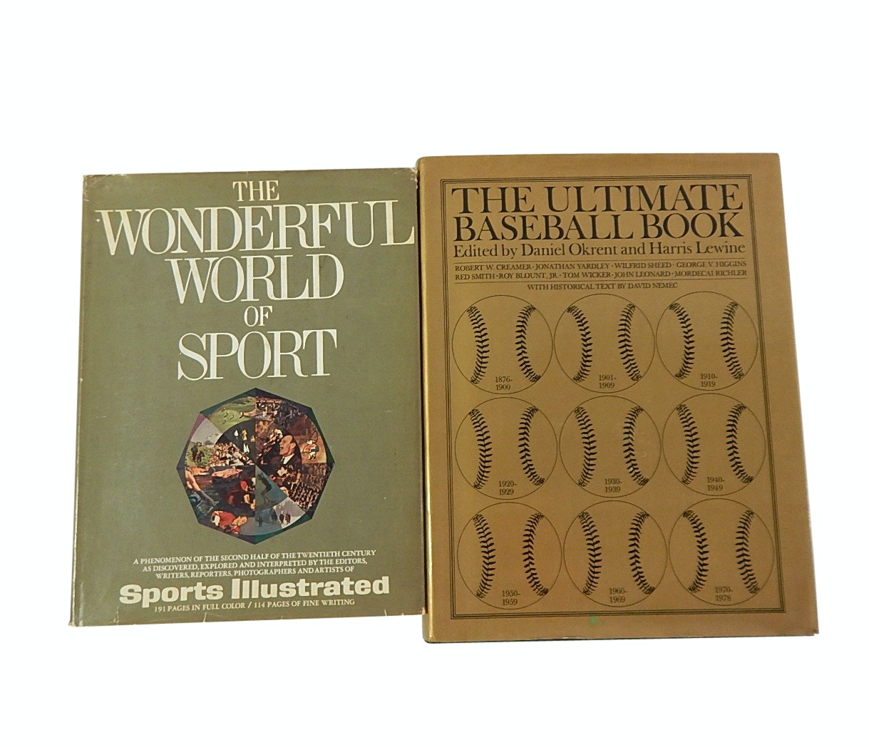"""1979 """"The Ultimate Baseball Book"""" and 1967 """"The Wonderful World of Sport"""" Book"""