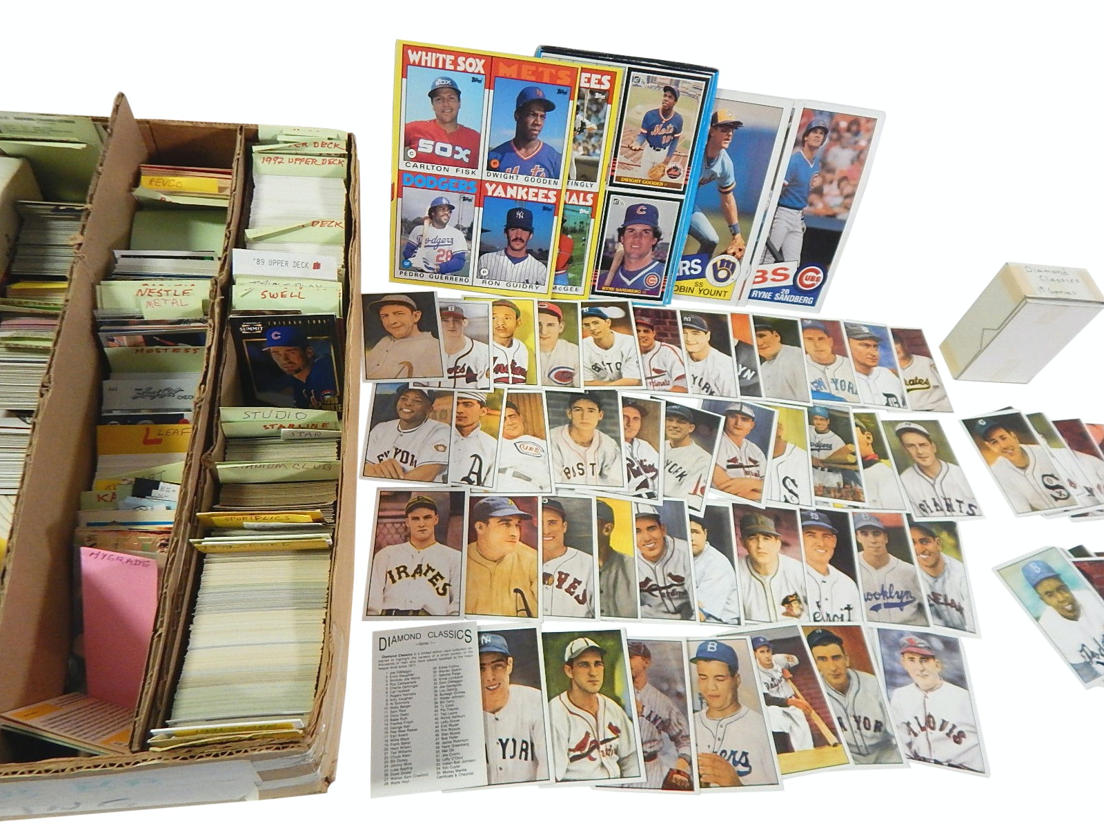 Large Baseball Card Collection with Mantle, Mays