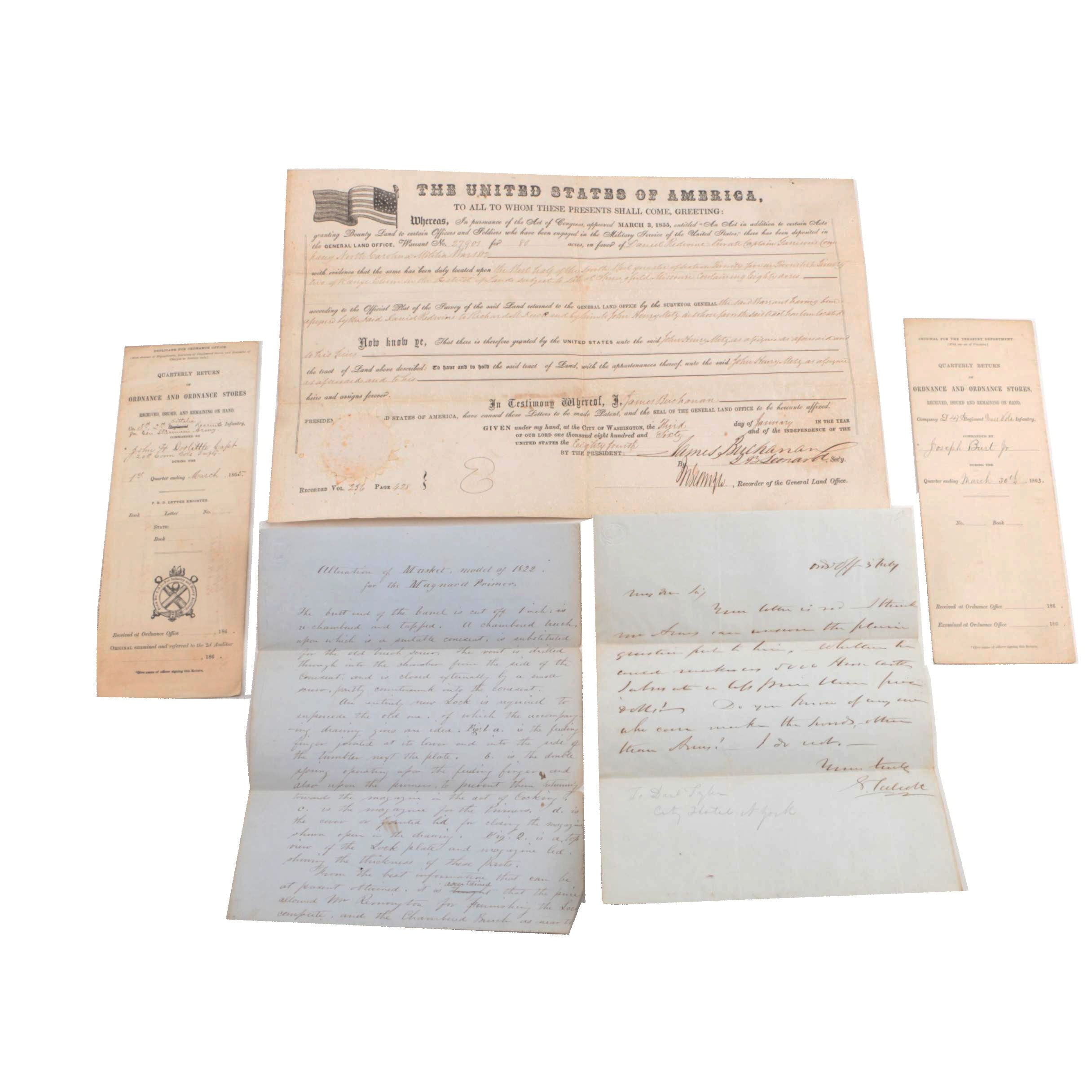 19th Century Letters and Documents