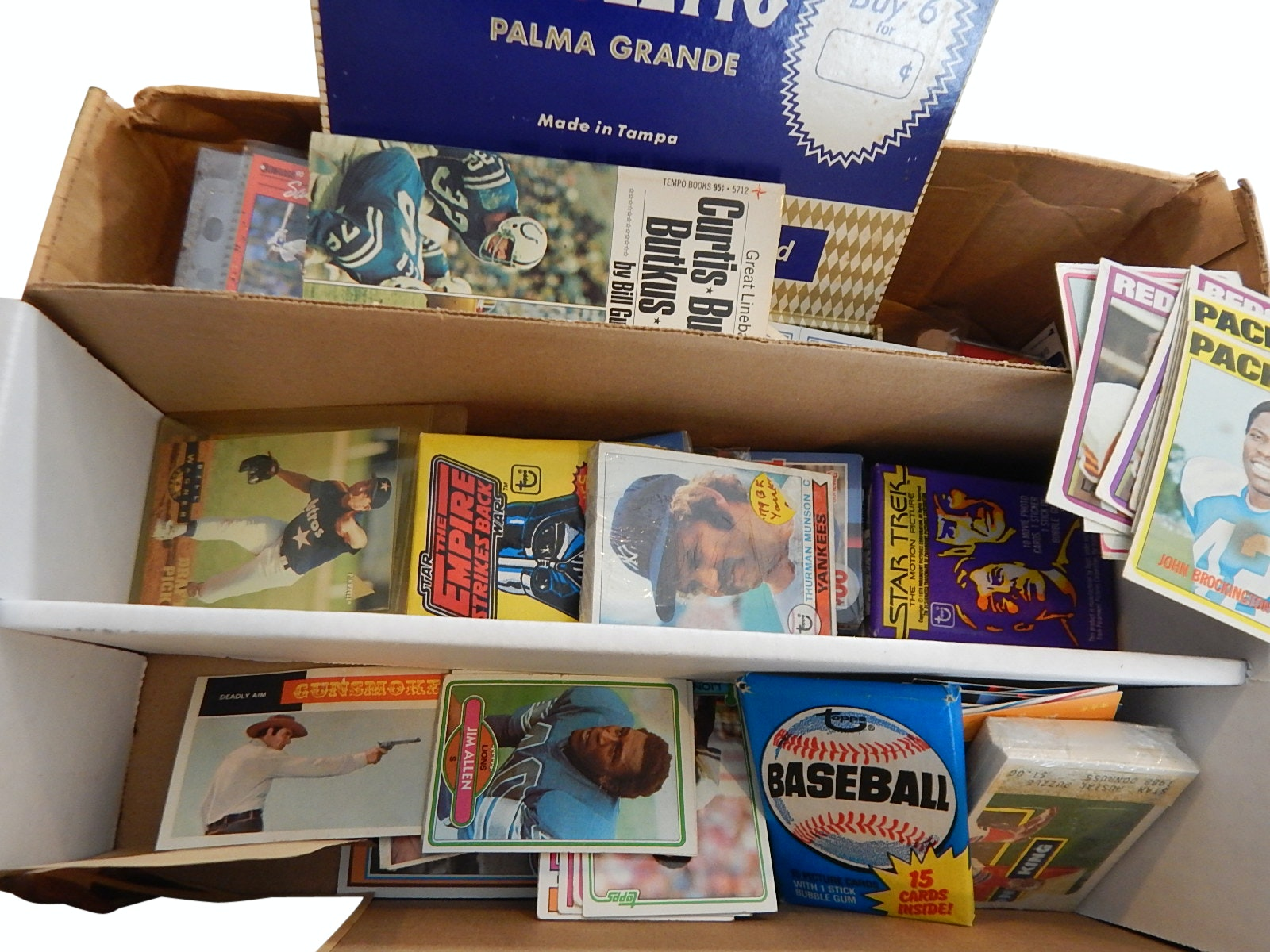 Large Sports and Non-Sports Card Collection with 1967 Hank Aaron Pin Up, More