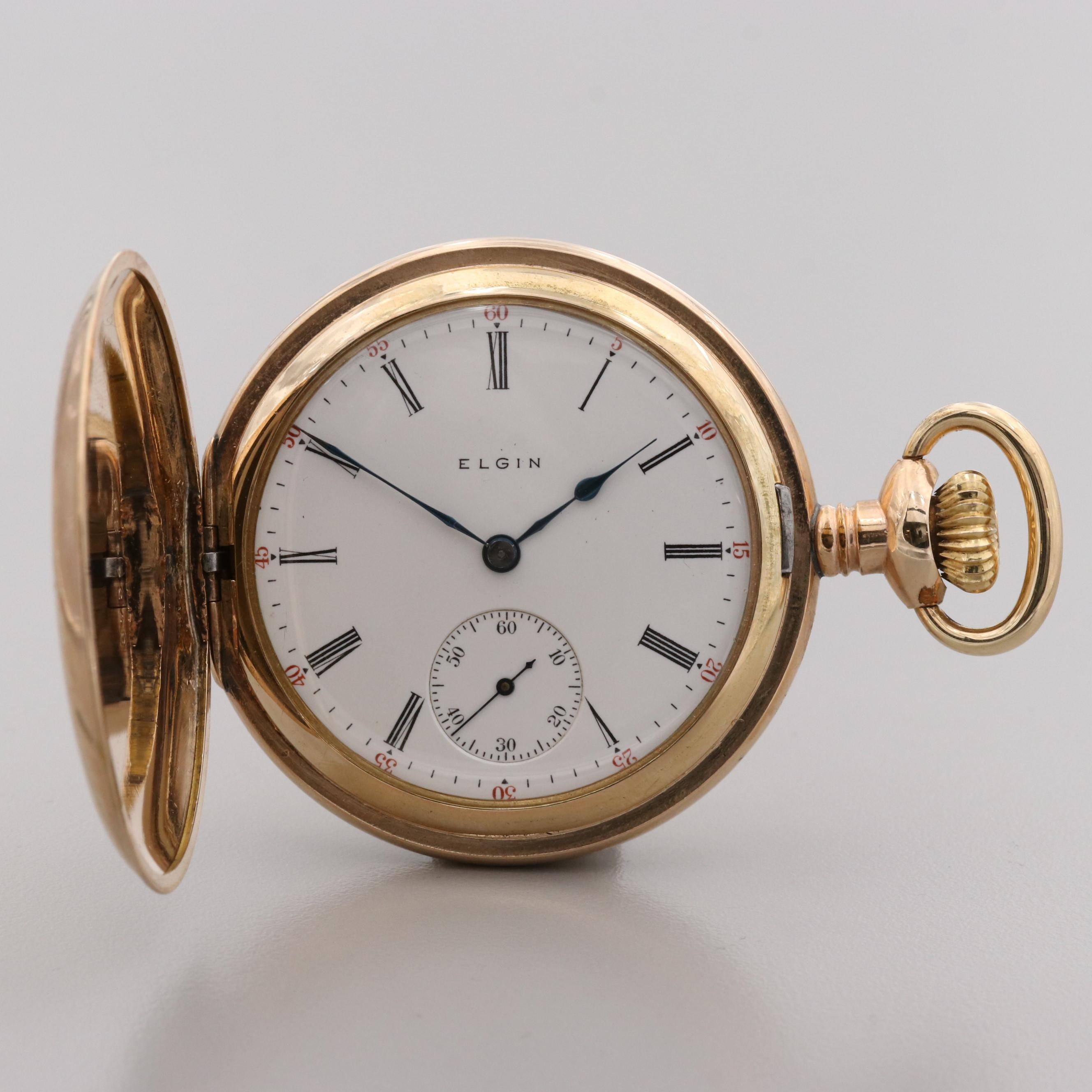 Elgin Gold Filled Pocket Watch, 1910